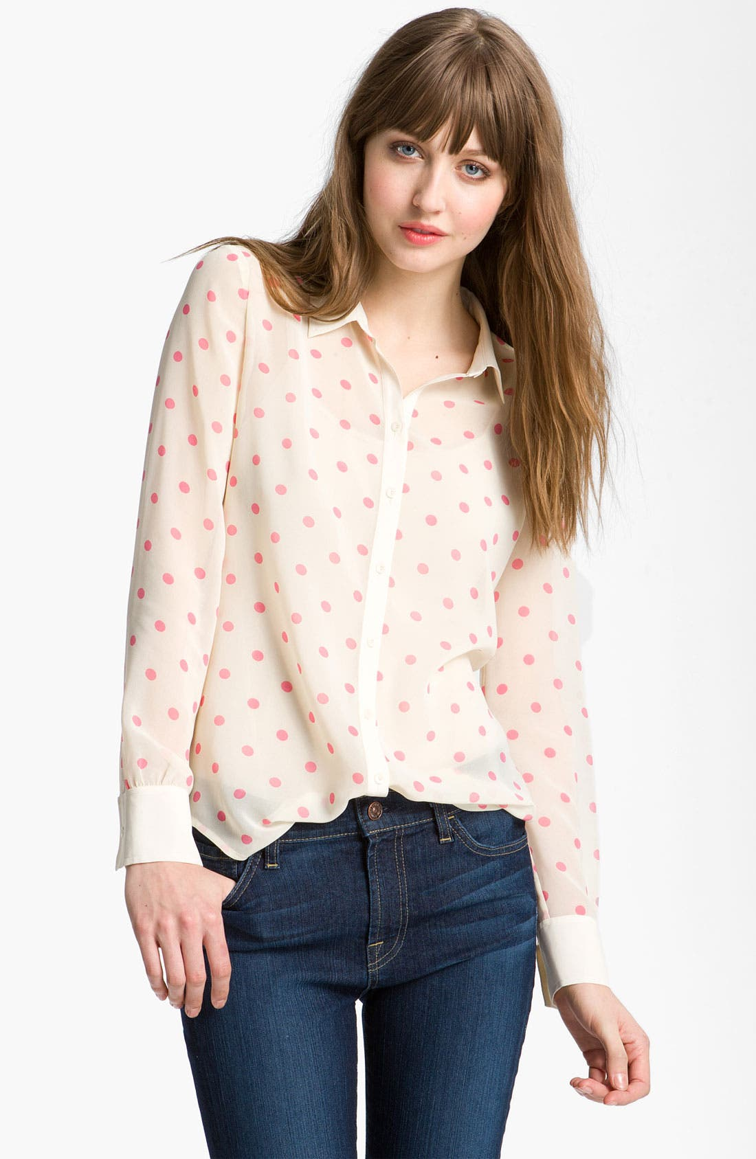 Main Image - Hinge® Print Chiffon Shirt