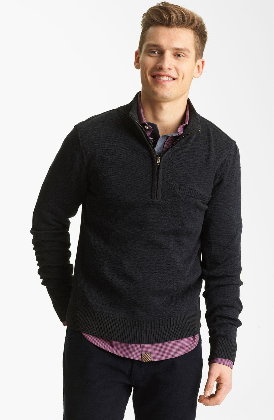 Main Image - Billy Reid Half Zip Sweater