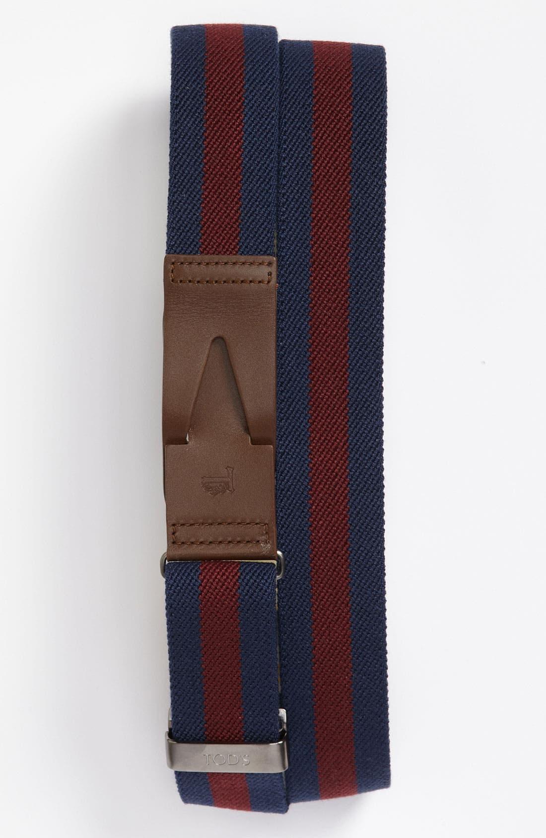 Alternate Image 1 Selected - Tod's 'Greca' Stretch Belt