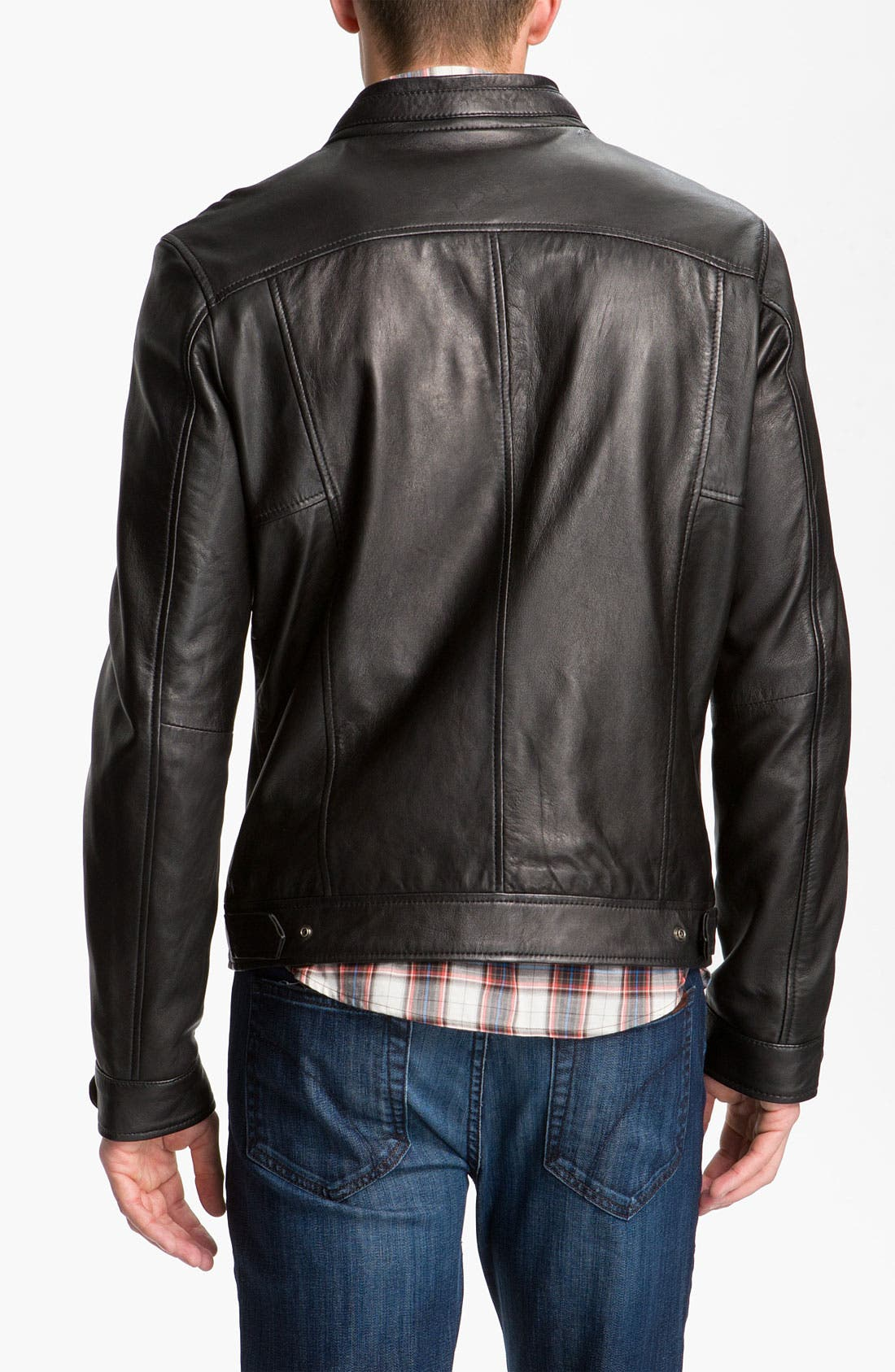 Alternate Image 3  - 7 Diamonds 'Manila' Trim Fit Leather Jacket