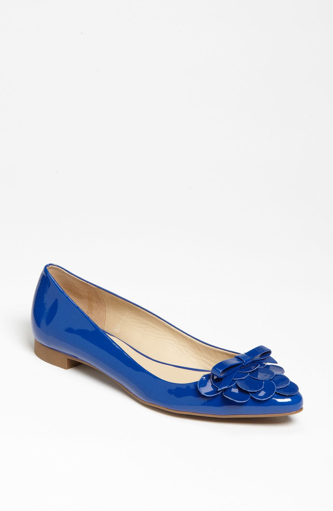 'erica' flat,                             Main thumbnail 1, color,                             Royal Blue Patent
