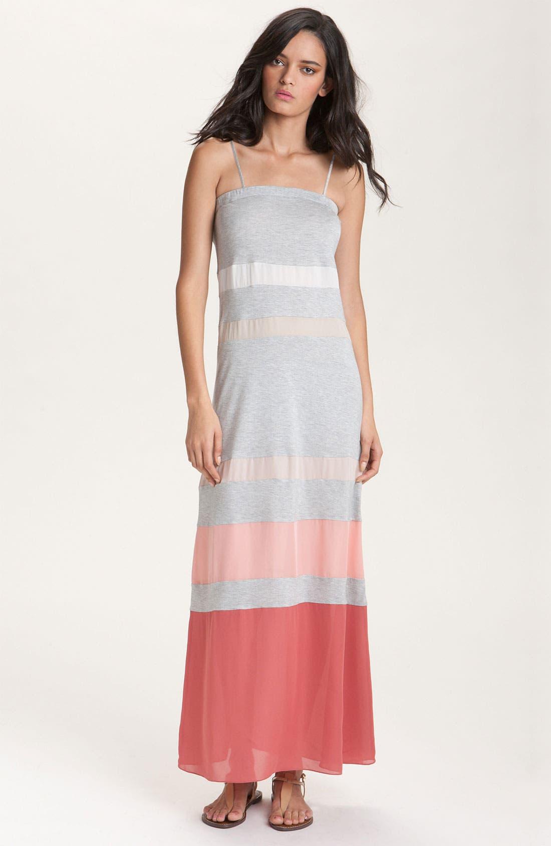 Alternate Image 1 Selected - Haute Hippie Colorblock Stripe Maxi Dress
