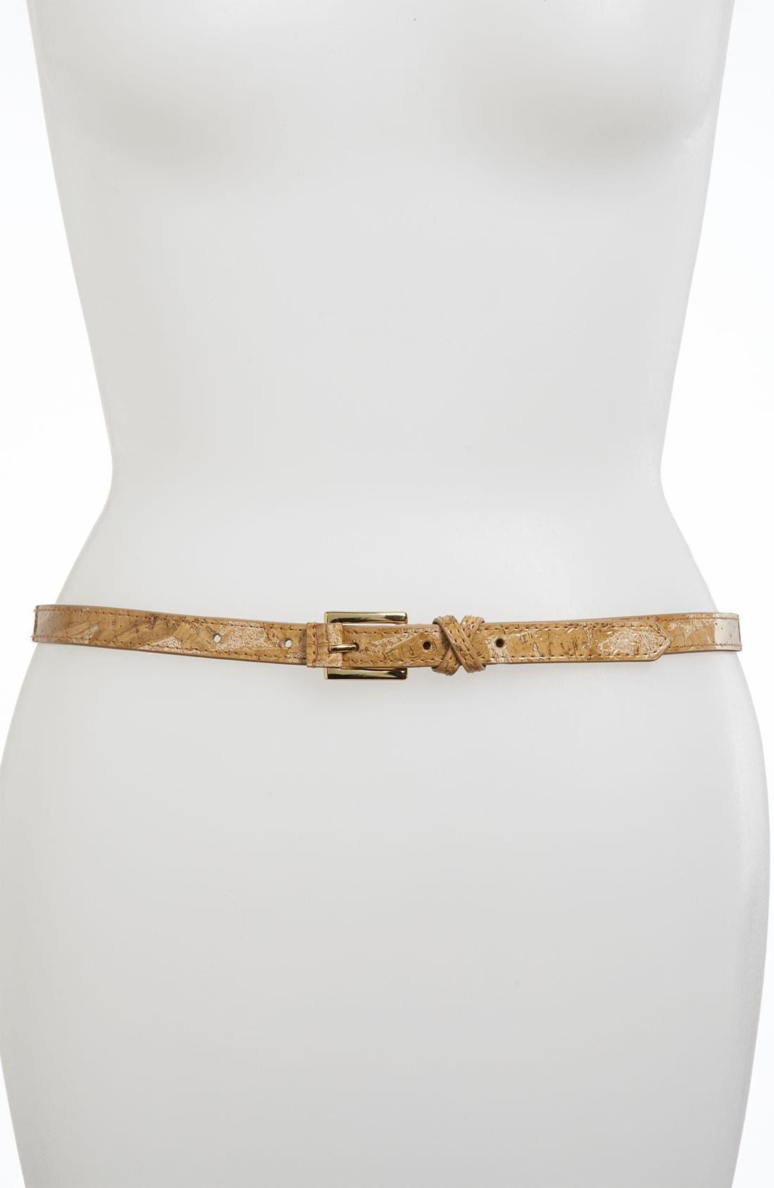 Main Image - Via Spiga 'Cork' Skinny Belt
