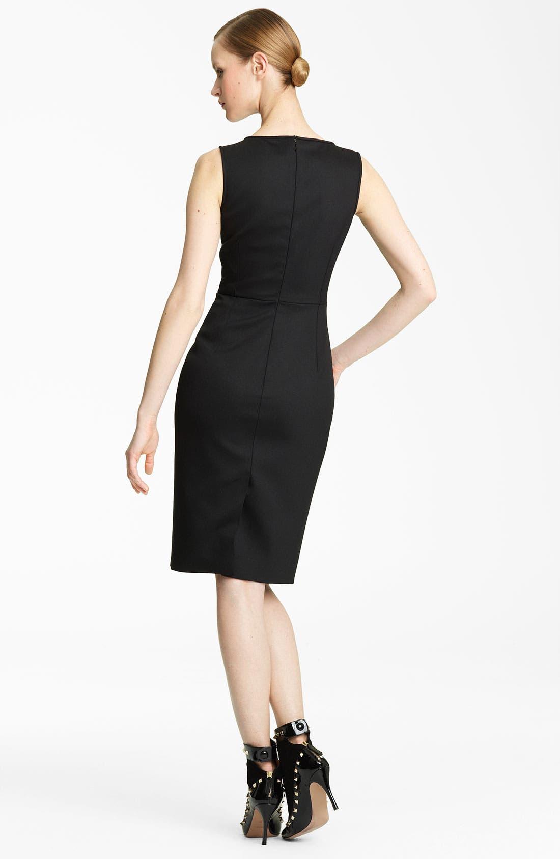 Alternate Image 2  - Valentino Techno Stretch Wool Sheath Dress