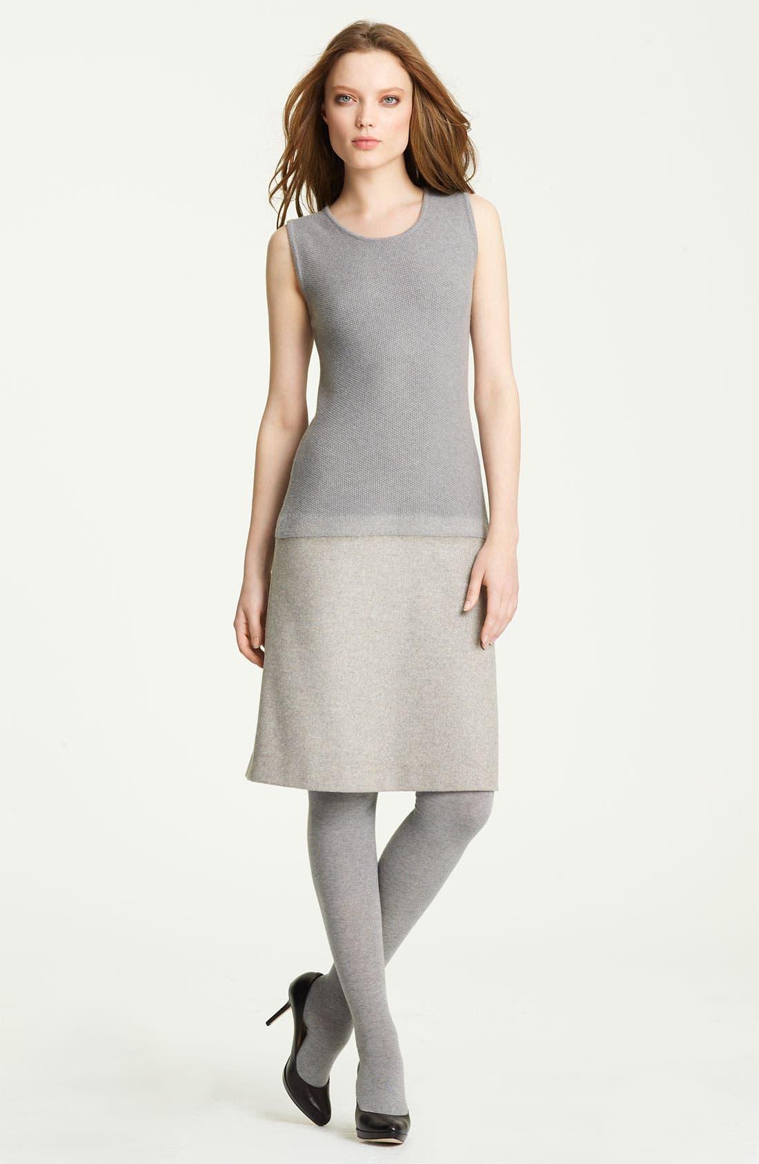 Main Image - Fabiana Filippi Knit & Felt Wool Blend Dress