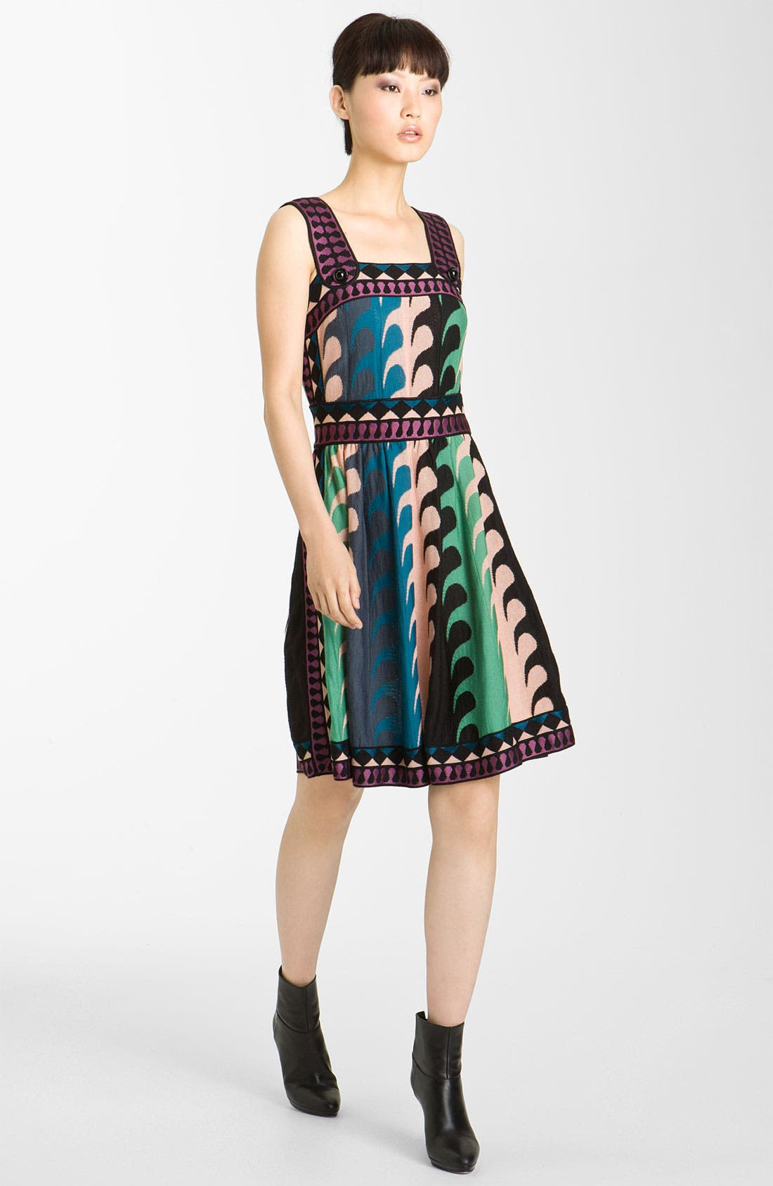 Alternate Image 1 Selected - M Missoni Ocean Stripe Intarsia Tank Dress