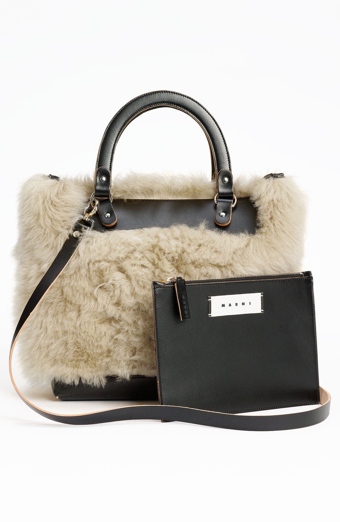 Alternate Image 4  - Marni Shearling Crossbody Bag