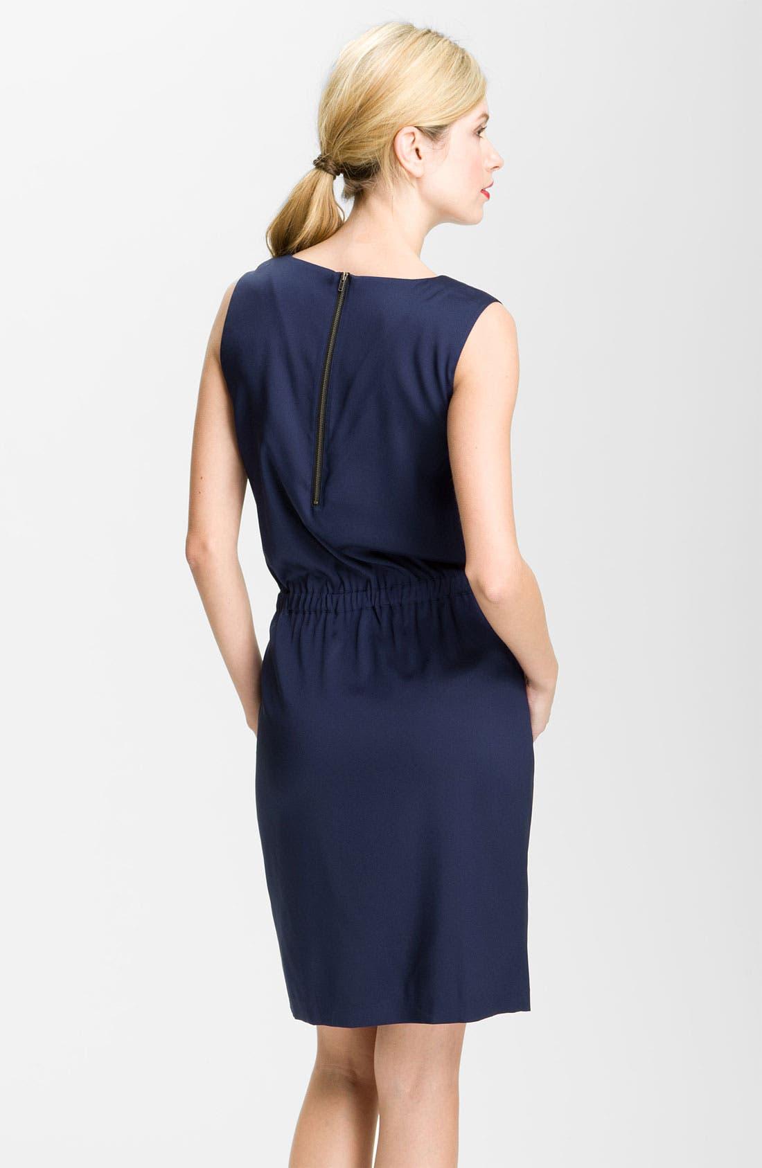 Alternate Image 2  - Valette Drape Neck Twill Dress