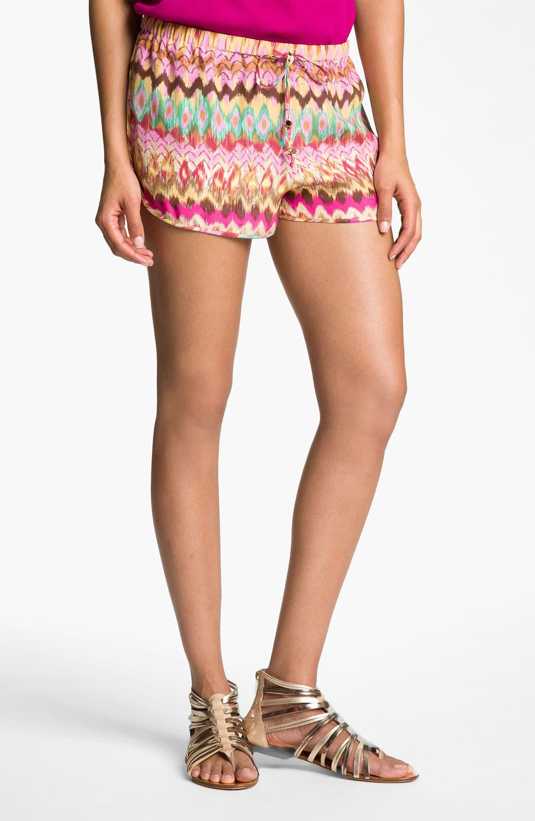 Alternate Image 1 Selected - Haute Hippie Print Drawstring Shorts