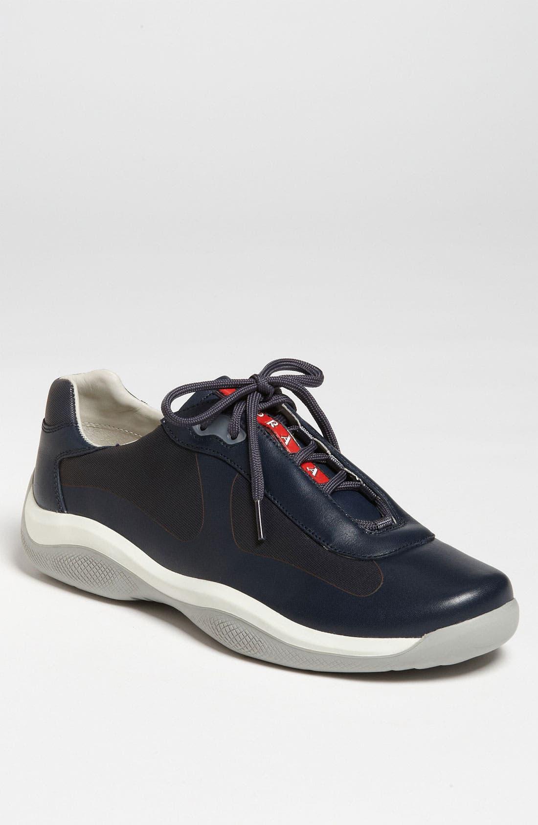 Alternate Image 1 Selected - Prada Leather Sneaker