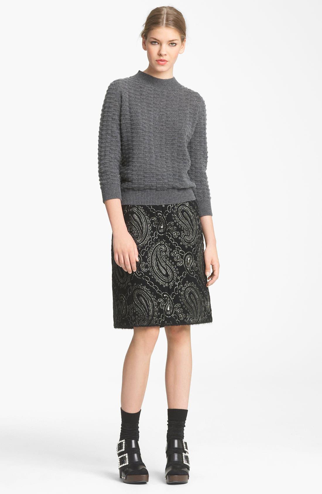 Alternate Image 3  - MARC JACOBS Metallic Paisley Jacquard Pencil Skirt