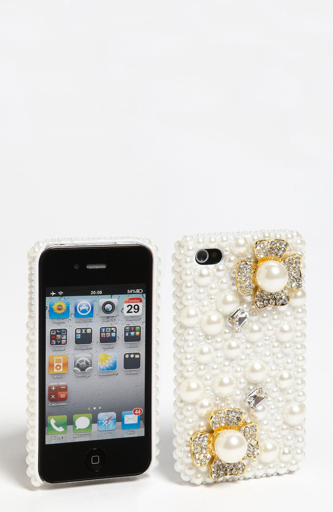 Alternate Image 1 Selected - Natasha Couture 'Flower and Pearl' iPhone 4 & 4S Case