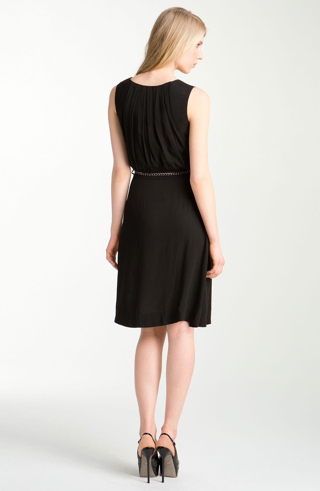 Alternate Image 2  - L'AGENCE Belted Crepe Dress
