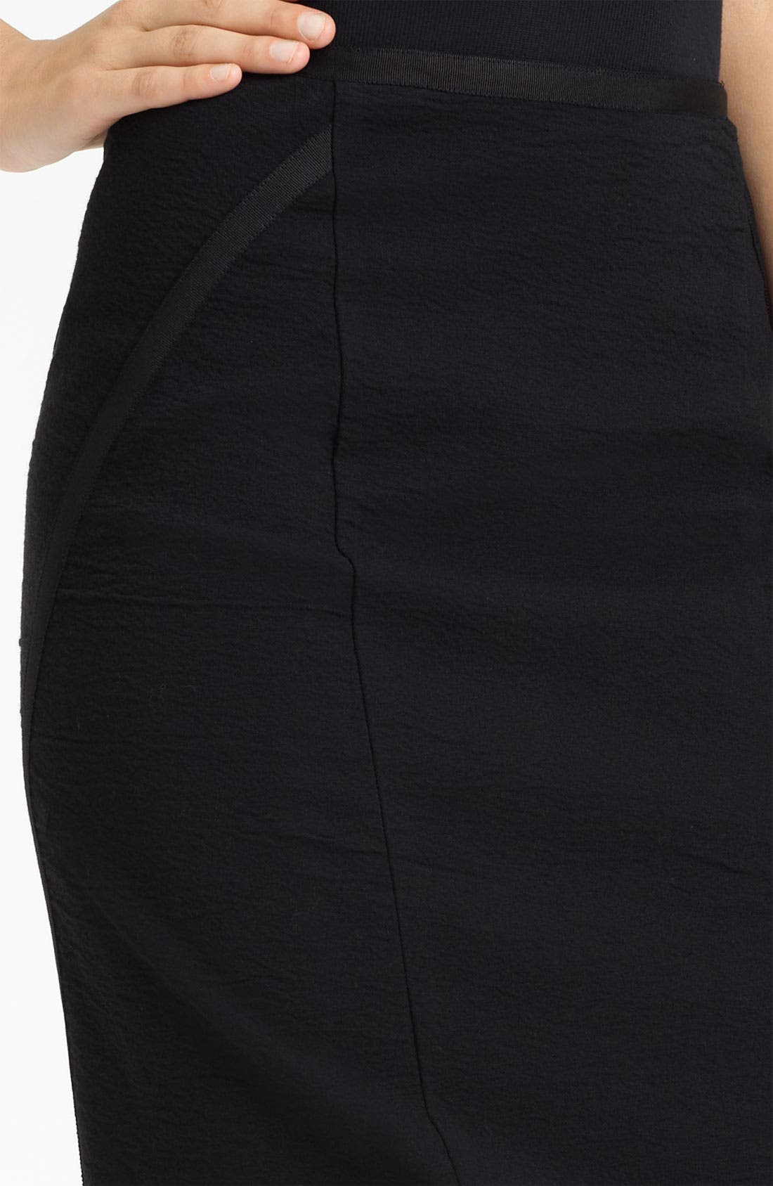 Alternate Image 2  - Donna Karan Collection Crepe Canvas Pencil Skirt