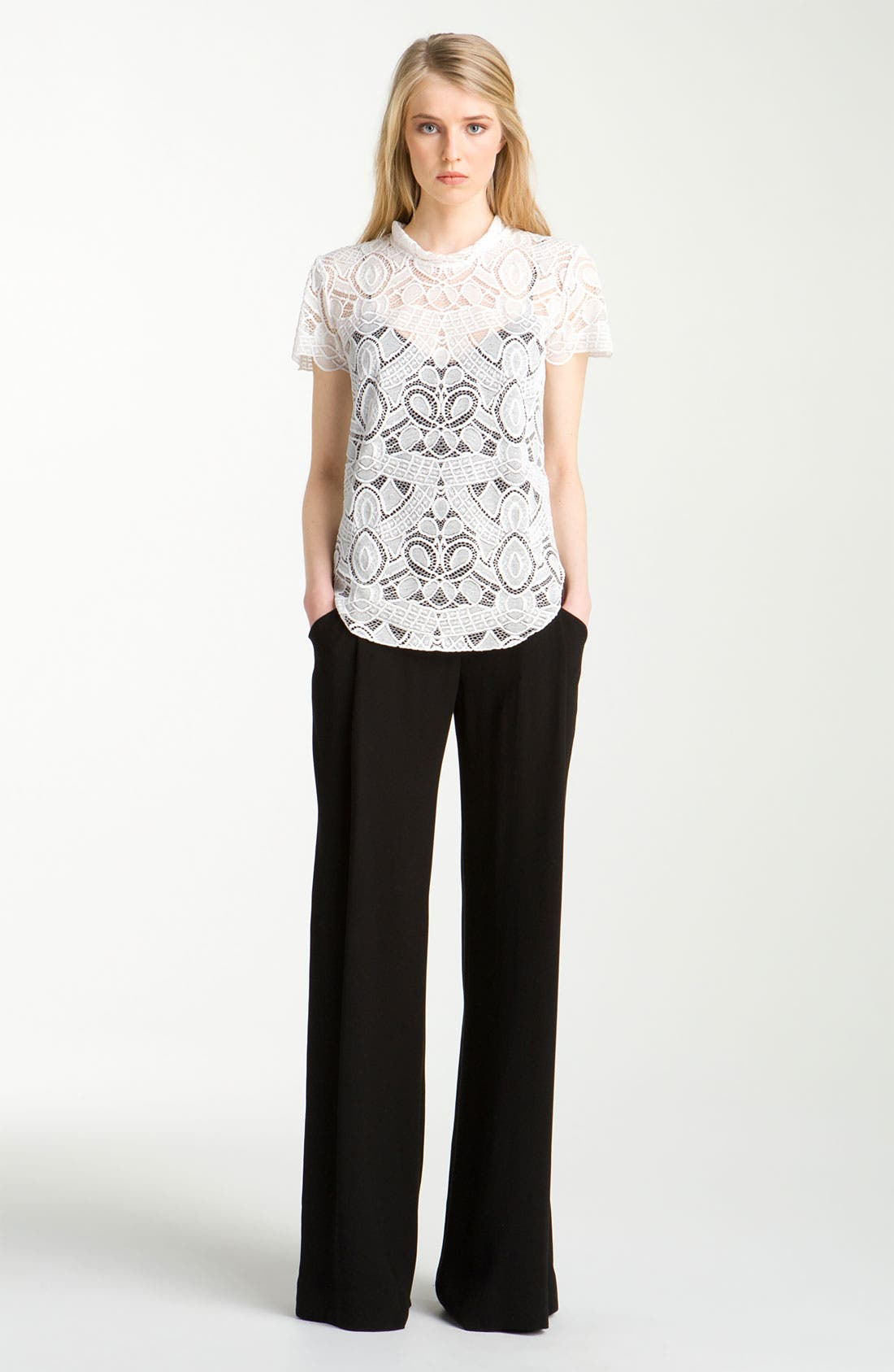 Alternate Image 1 Selected - L'AGENCE Lace Blouse