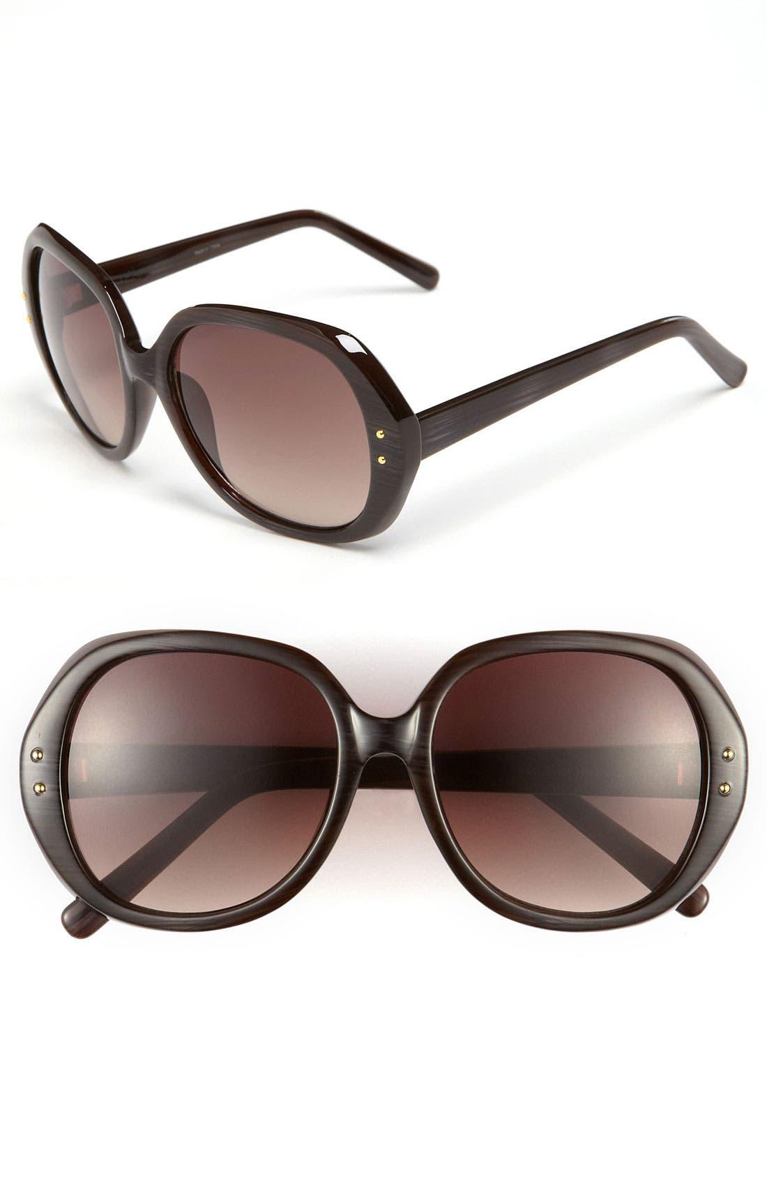 Main Image - Halogen® Oversized Sunglasses
