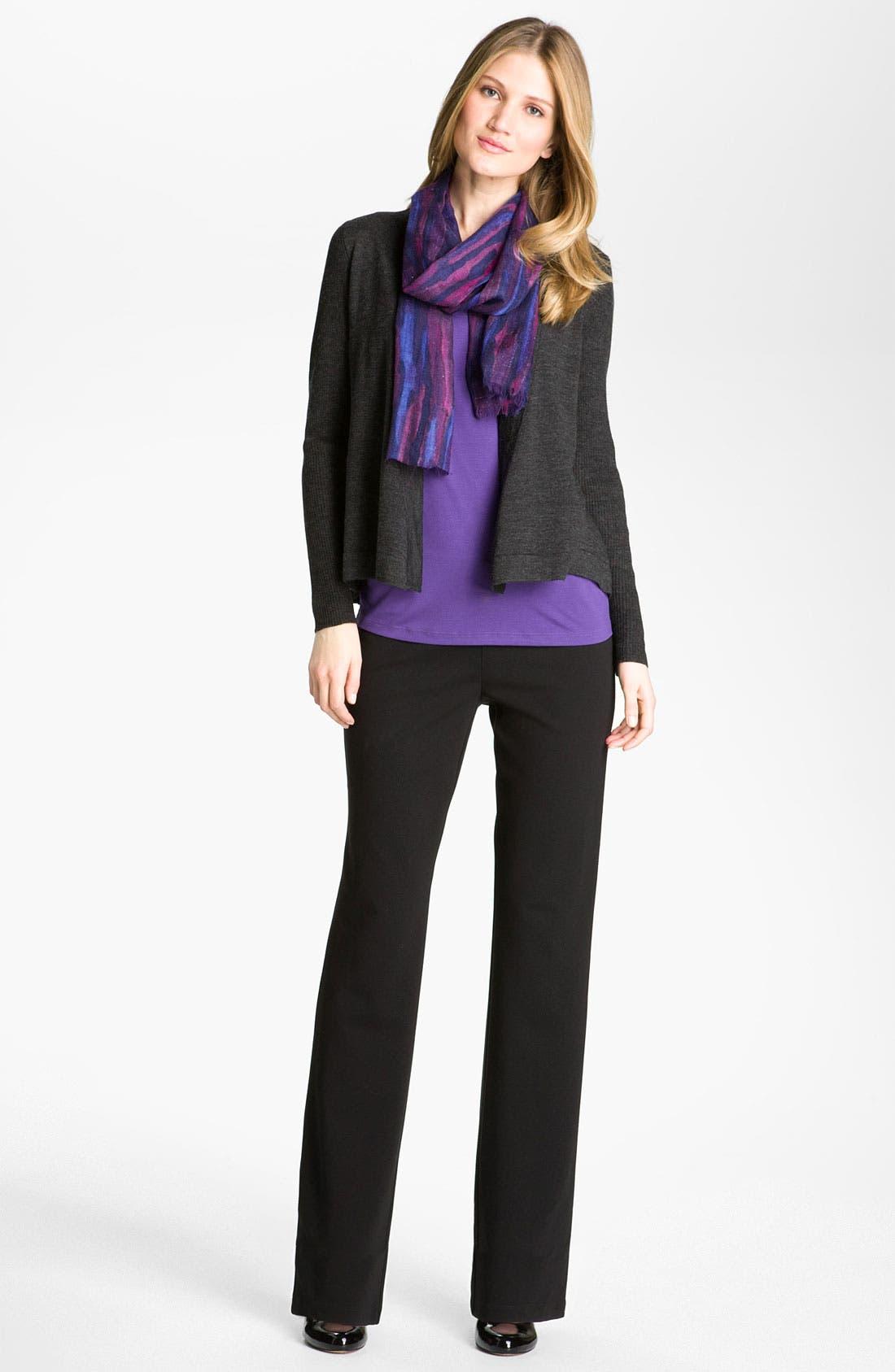 Alternate Image 4  - Eileen Fisher 'Milano' Straight Leg Knit Pants