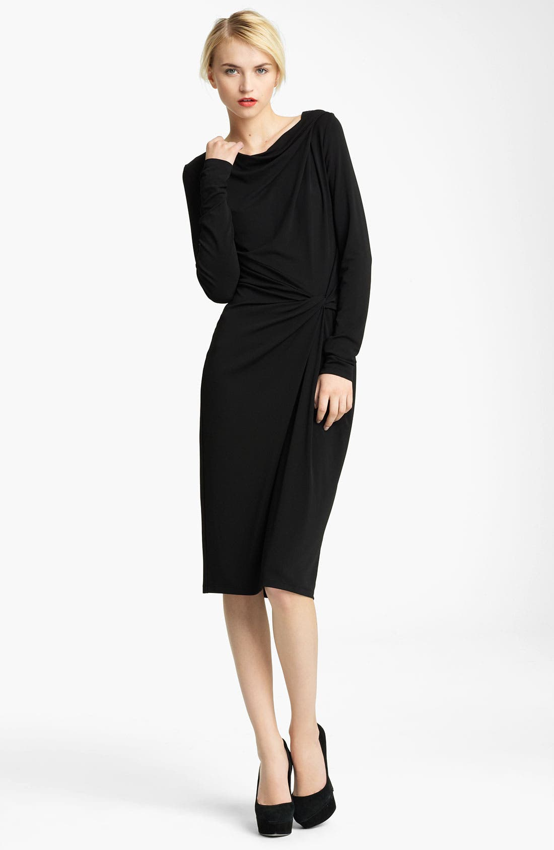 Alternate Image 1 Selected - Michael Kors Asymmetrical Twist Jersey Dress