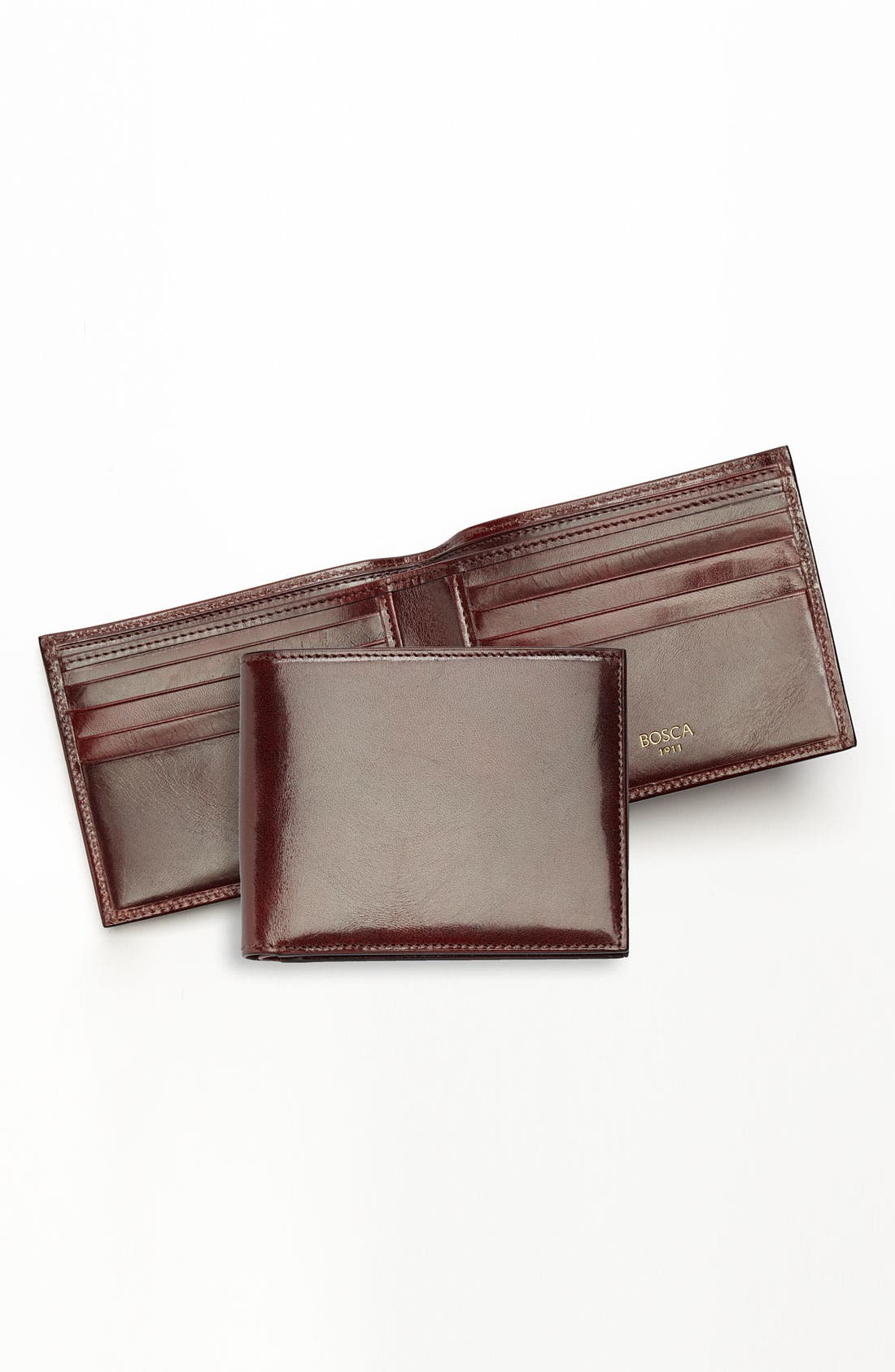 'Old Leather' Deluxe Wallet,                             Alternate thumbnail 4, color,                             Dark Brown