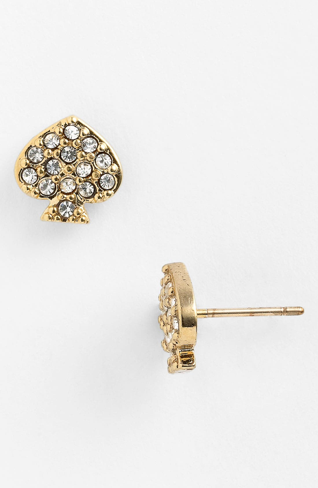 Alternate Image 1 Selected - kate spade new york crystal spade earrings