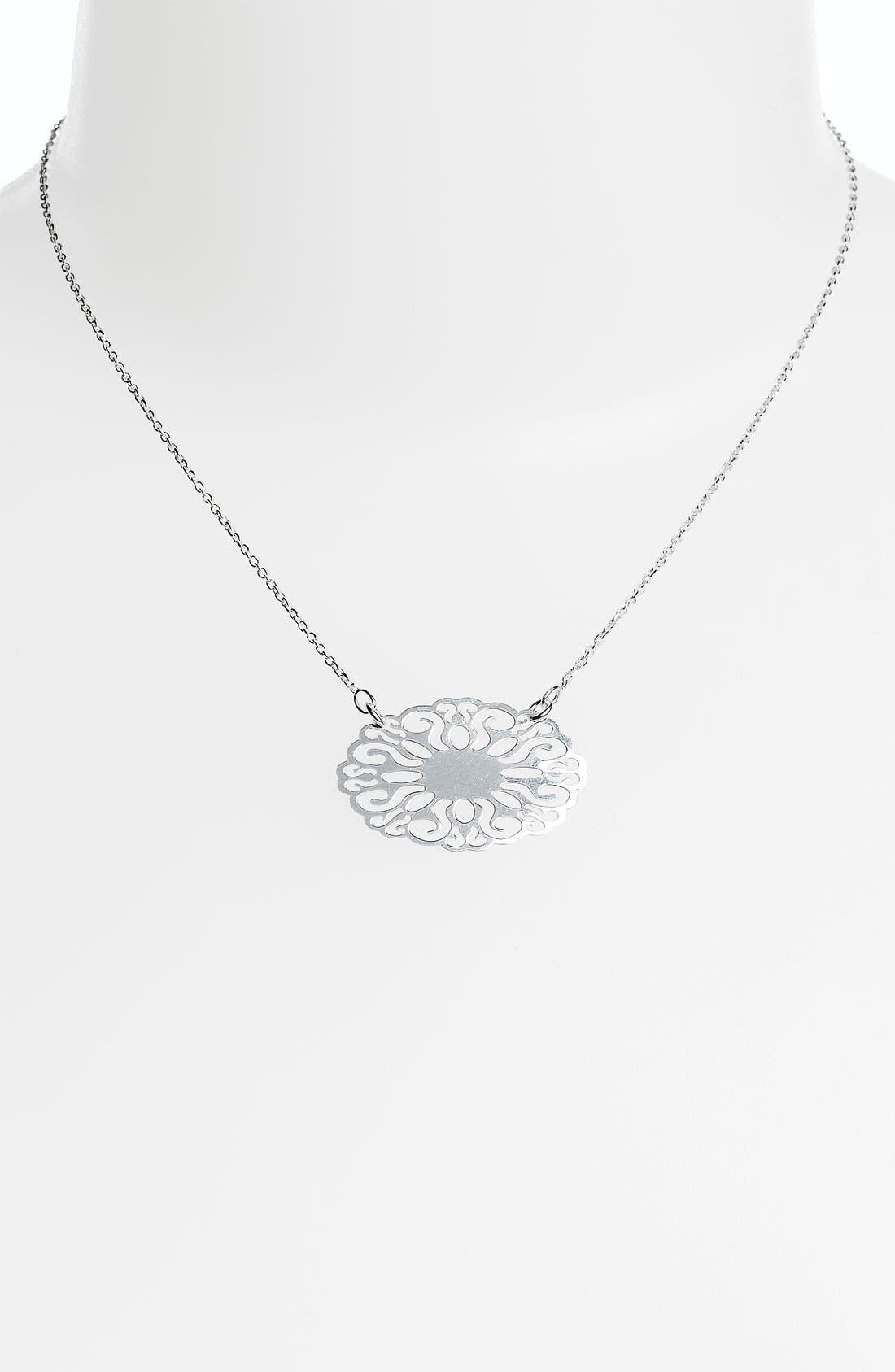 Alternate Image 1 Selected - Argento Vivo 'Sunburst' Small Pendant Necklace