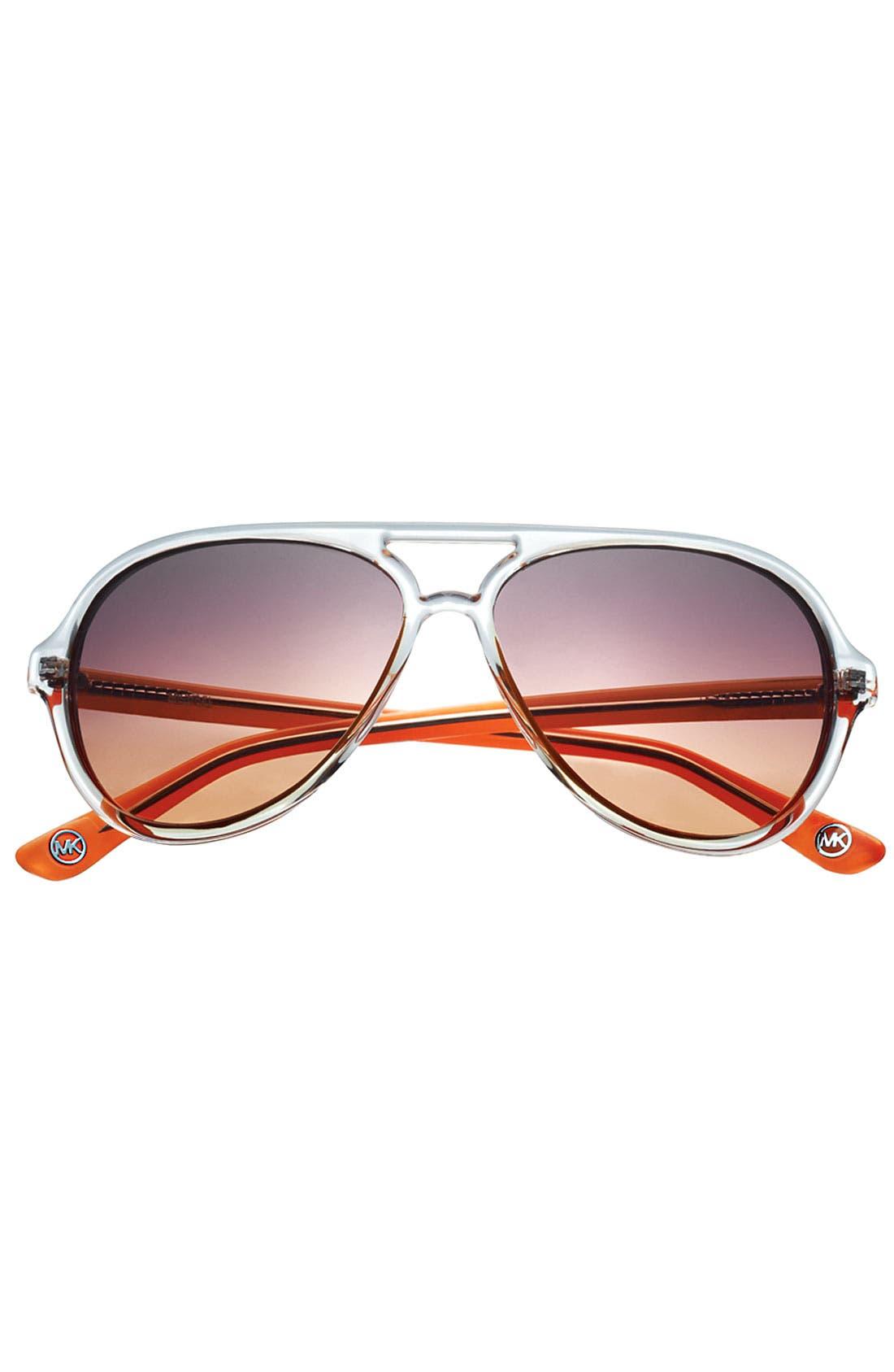 Alternate Image 3  - MICHAEL Michael Kors 57mm Aviator Sunglasses
