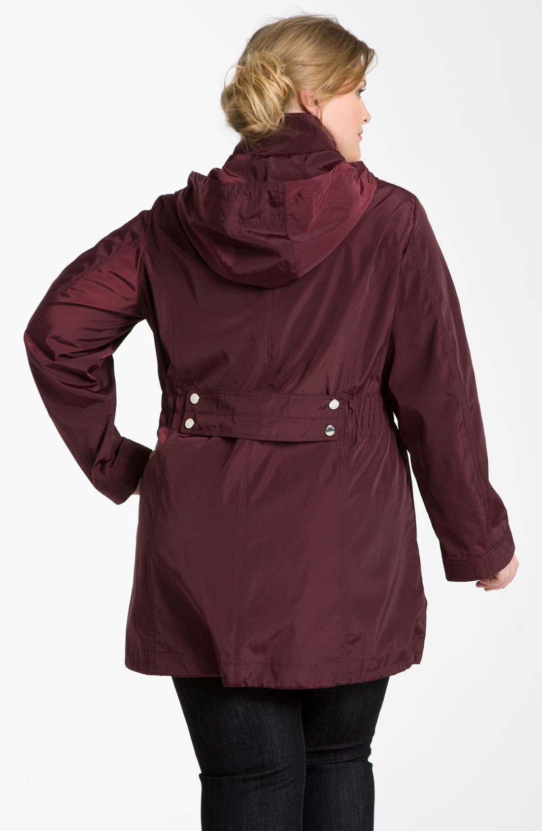 Alternate Image 2  - Laundry by Shelli Segal Packable Hooded Anorak (Plus)