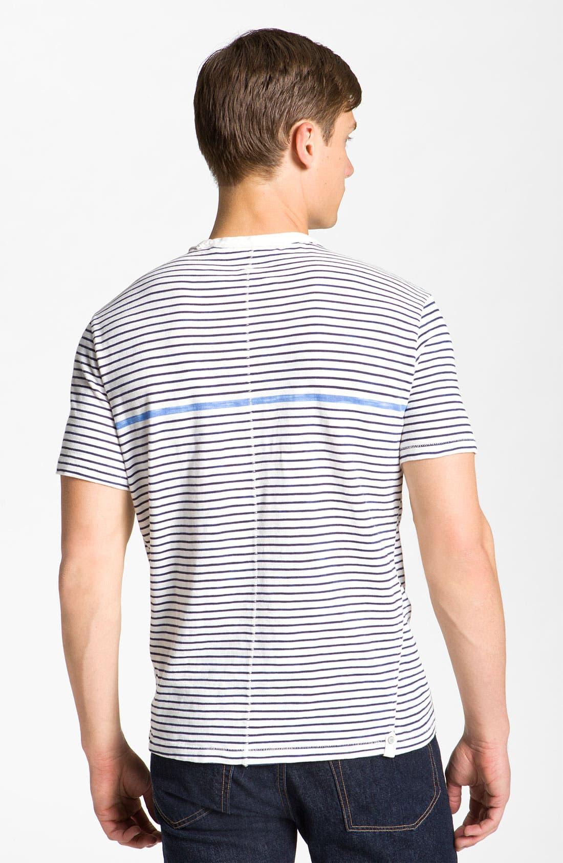 Alternate Image 2  - rag & bone Stripe Pocket T-Shirt