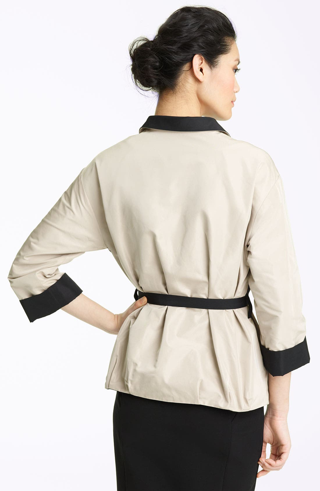 Alternate Image 2  - Lida Baday Belted Reversible Twill Jacket