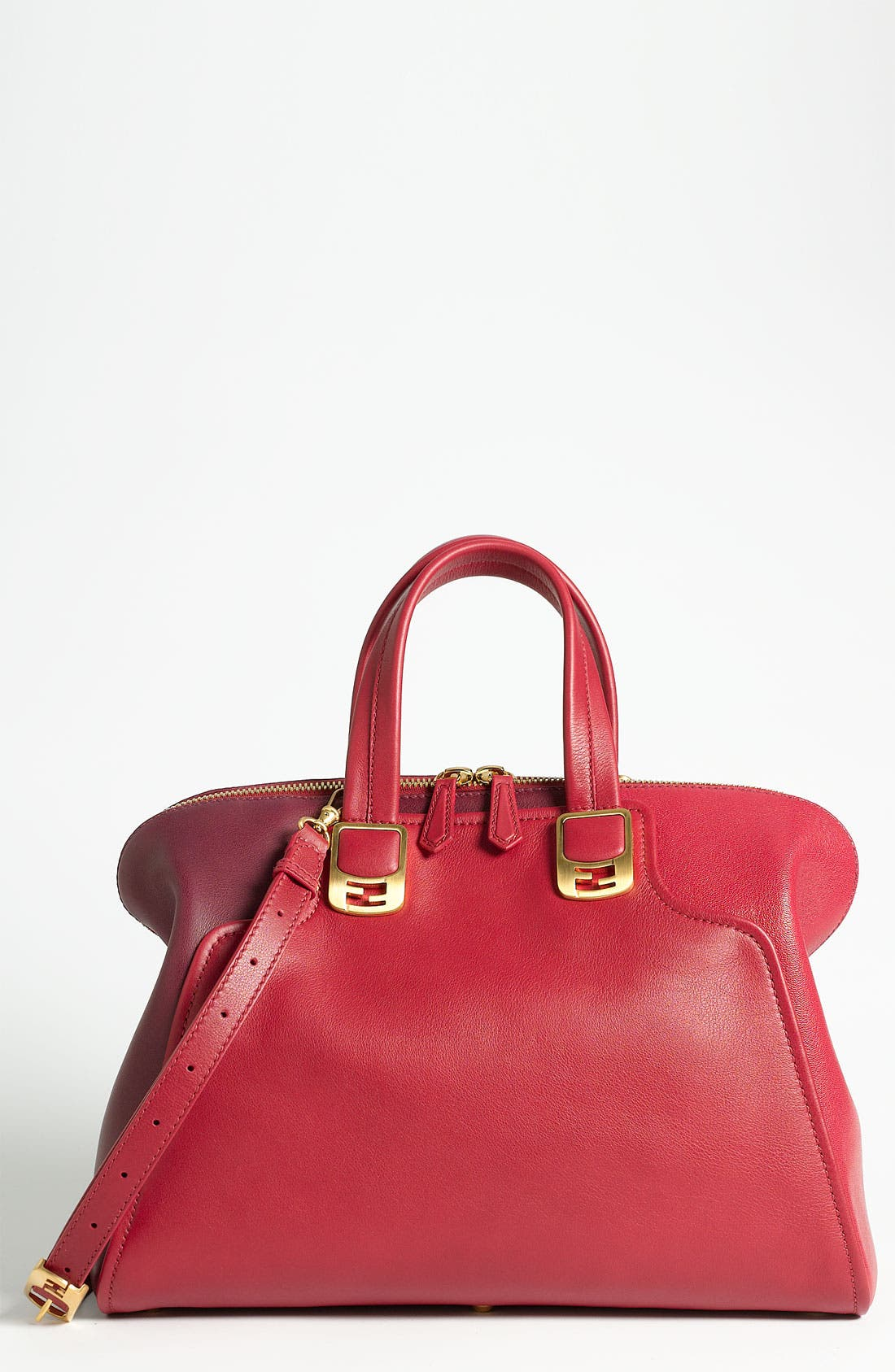 Alternate Image 1 Selected - Fendi 'Chameleon Colorblock' Leather Tote