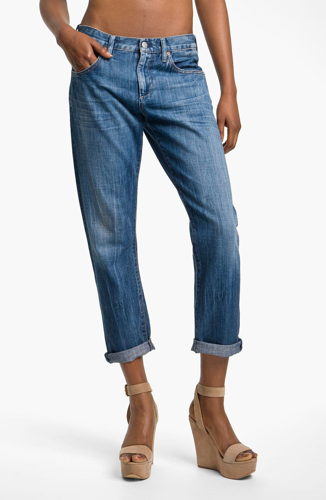 Alternate Image 1 Selected - Citizens of Humanity 'Daisy' Crop Loose Fit Jeans (Plunge)