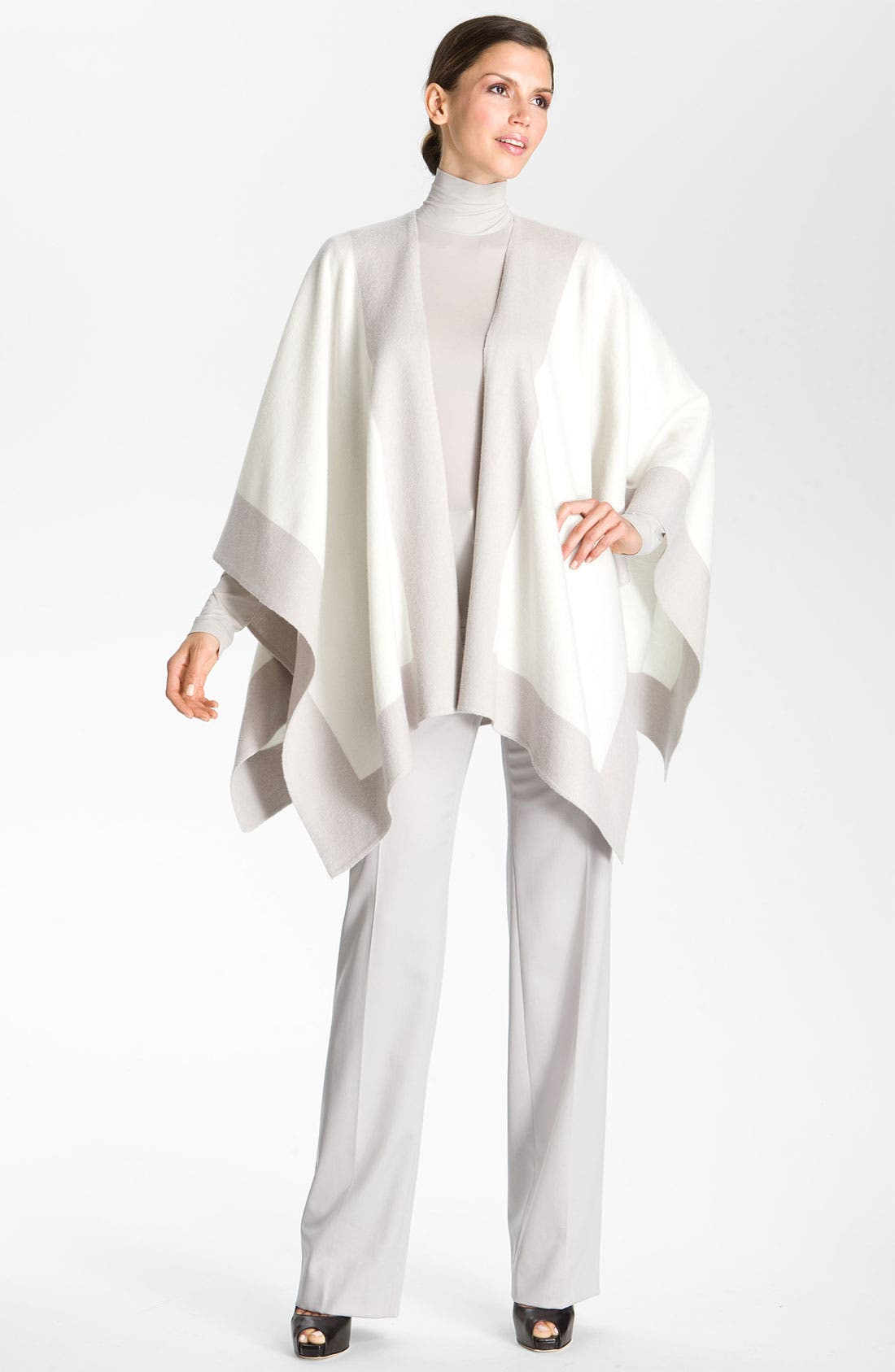 Alternate Image 2  - St. John Collection Colorblock Felted Wool Wrap