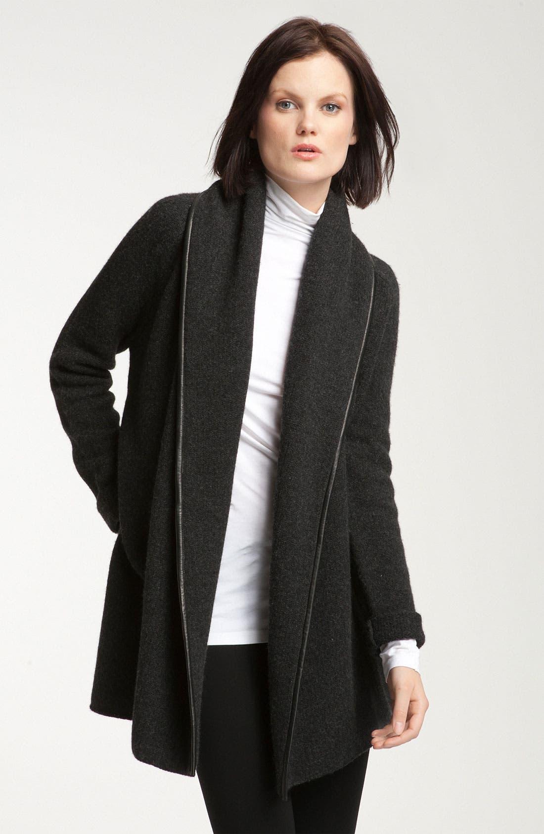 Alternate Image 1 Selected - Vince Leather Trim Coat