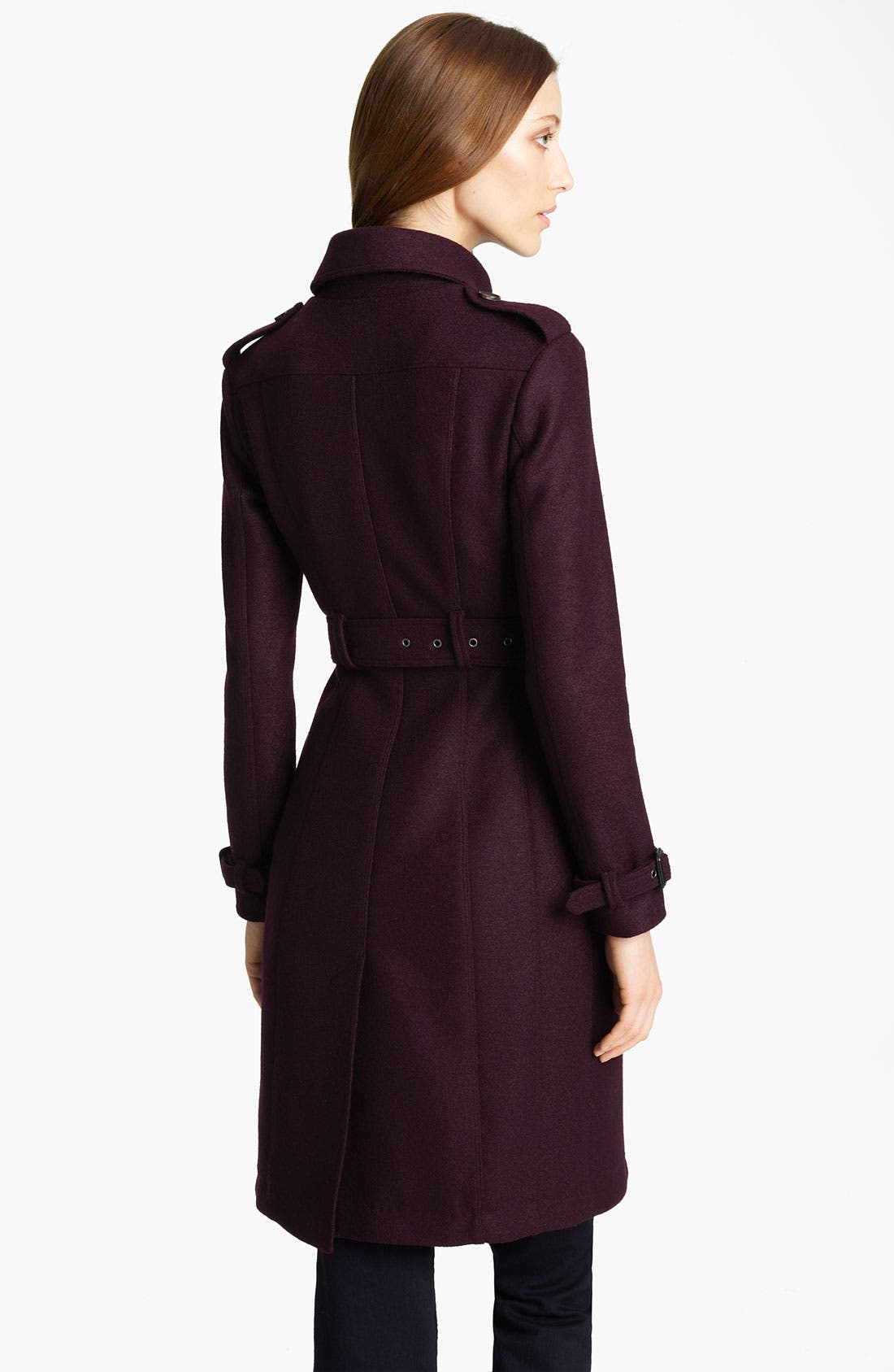 Alternate Image 2  - Burberry London Belted Boiled Wool Trench