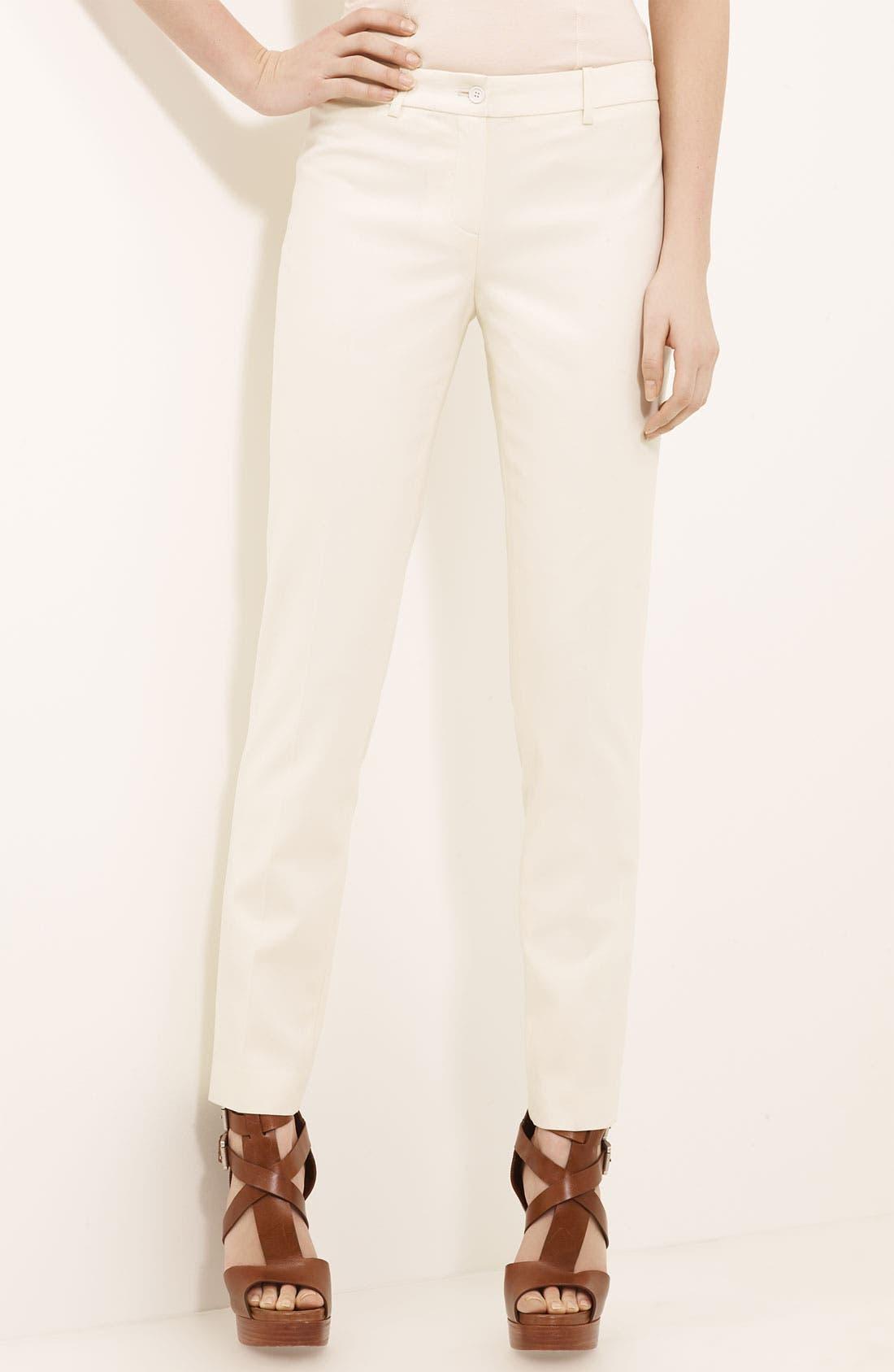 Alternate Image 1 Selected - Michael Kors 'Samantha' Skinny Wool Serge Pants