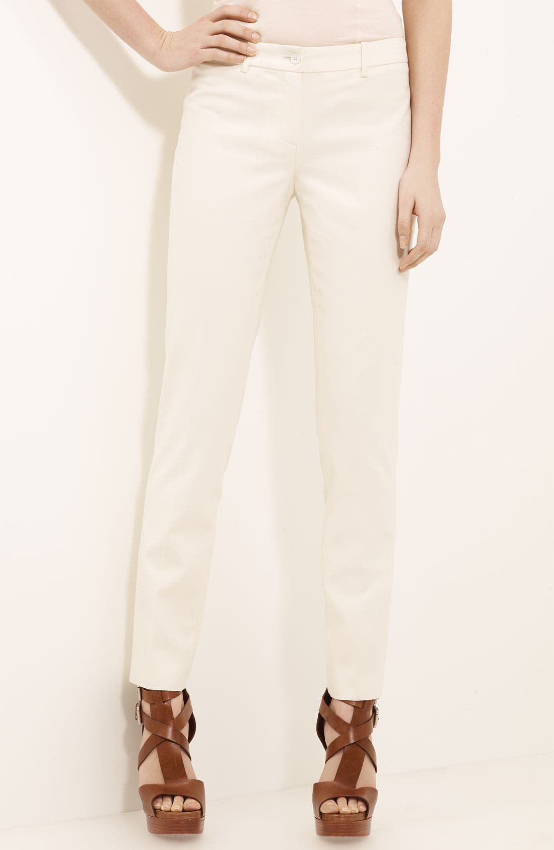 Main Image - Michael Kors 'Samantha' Skinny Wool Serge Pants