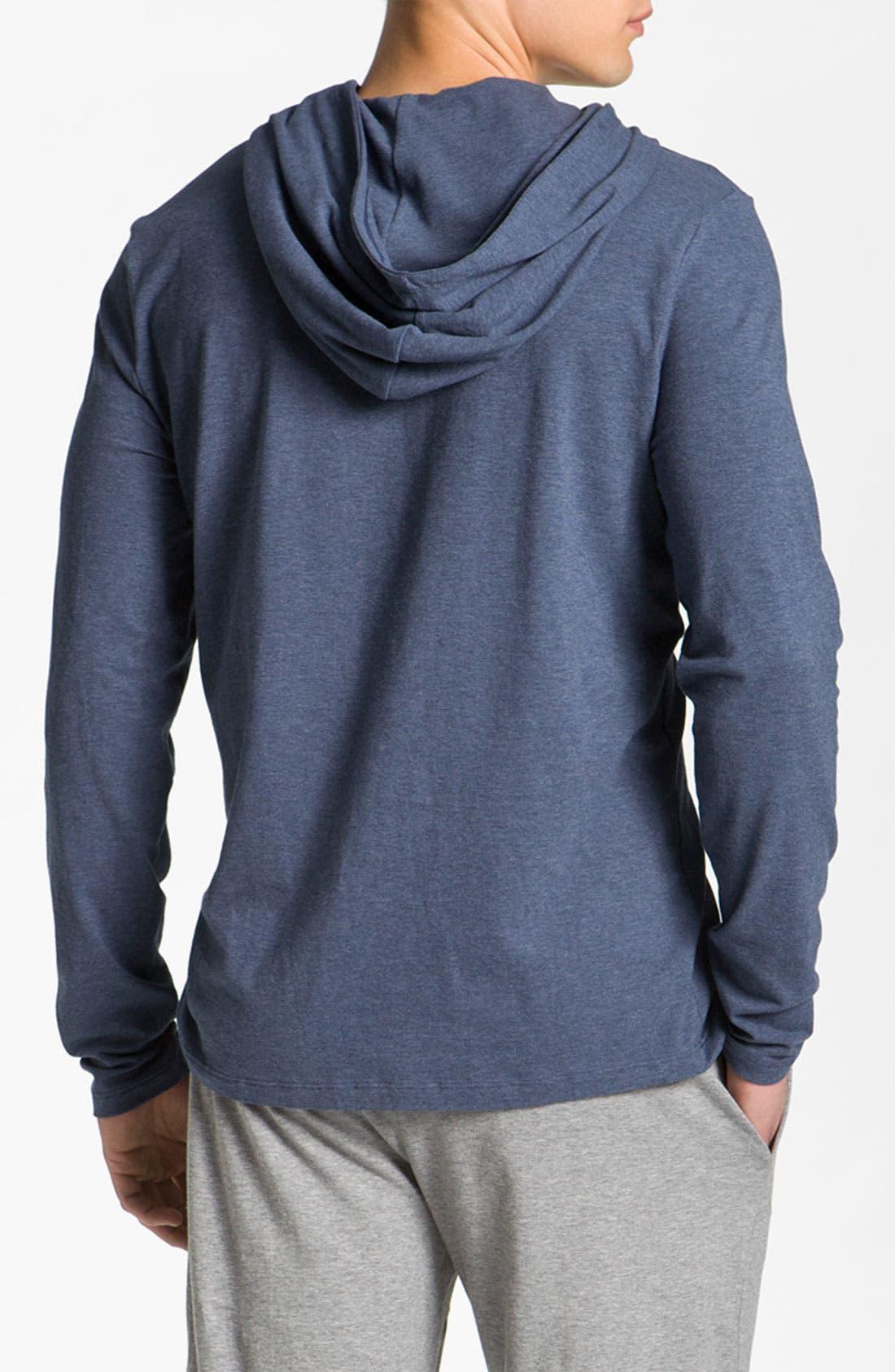 Alternate Image 2  - BOSS Black Hooded Shirt
