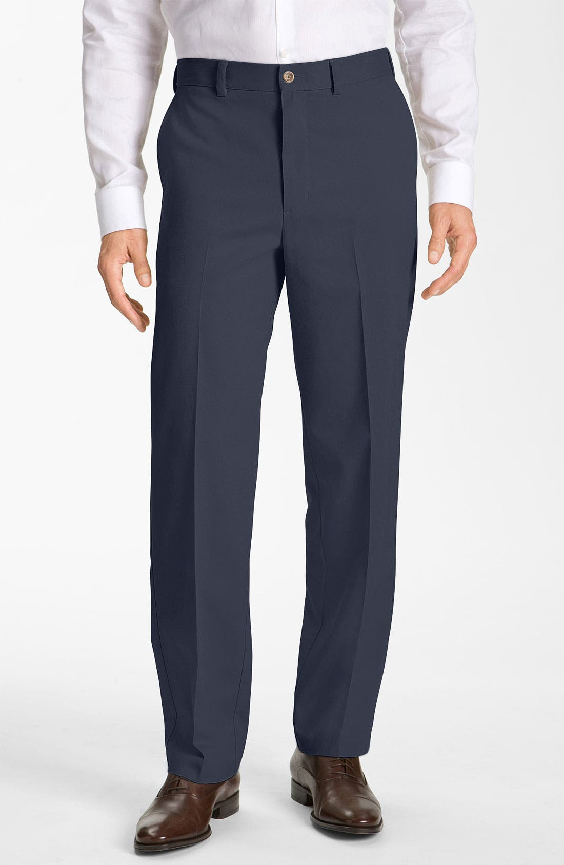 Alternate Image 1 Selected - Nordstrom Smartcare™ Flat Front Chinos