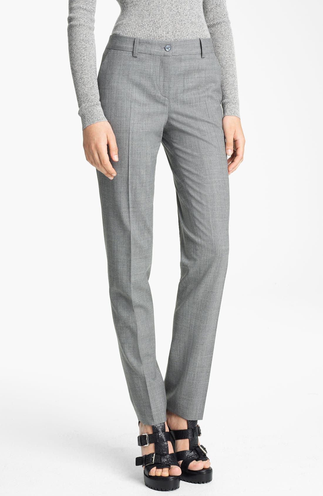 Main Image - Michael Kors 'Samantha' Skinny Tropical Wool Pants