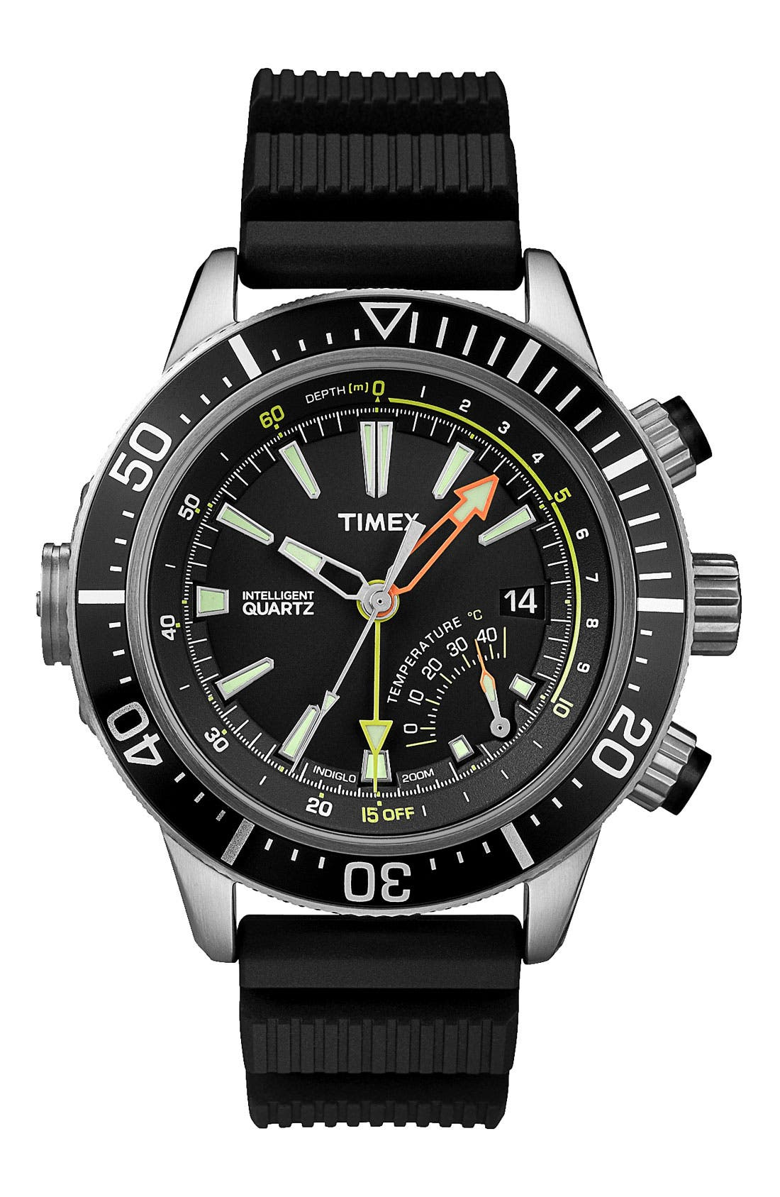 Alternate Image 1 Selected - Timex® 'Intelligent Quartz' Depth Gauge Resin Strap Watch