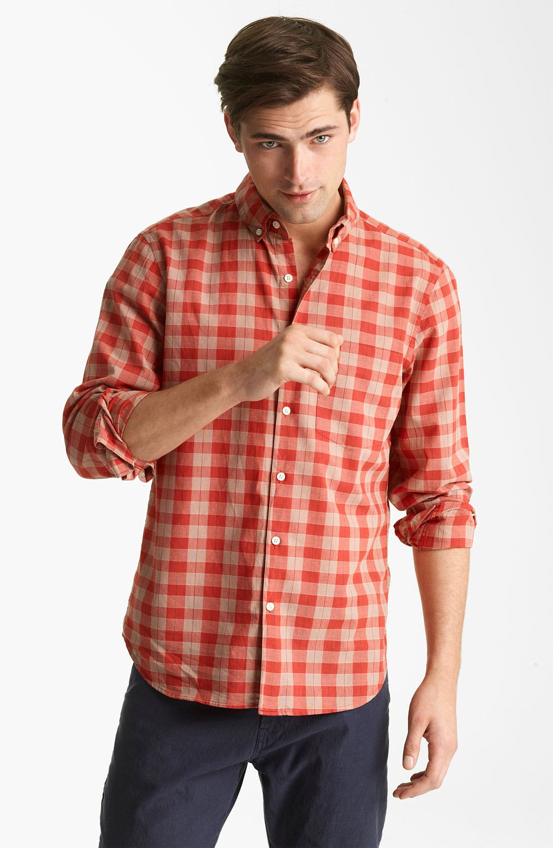 Alternate Image 1 Selected - Steven Alan Plaid Sport Shirt