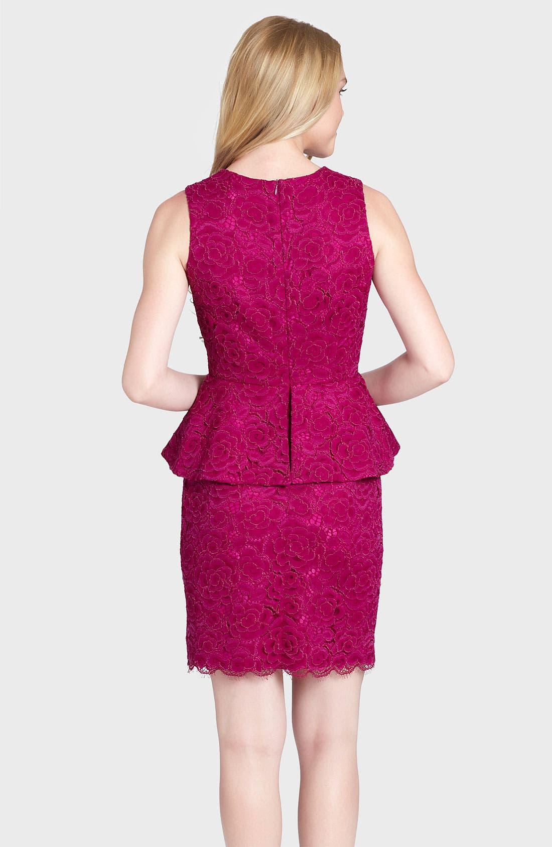 Alternate Image 2  - Cynthia Steffe 'Camille' Peplum Lace Sheath Dress