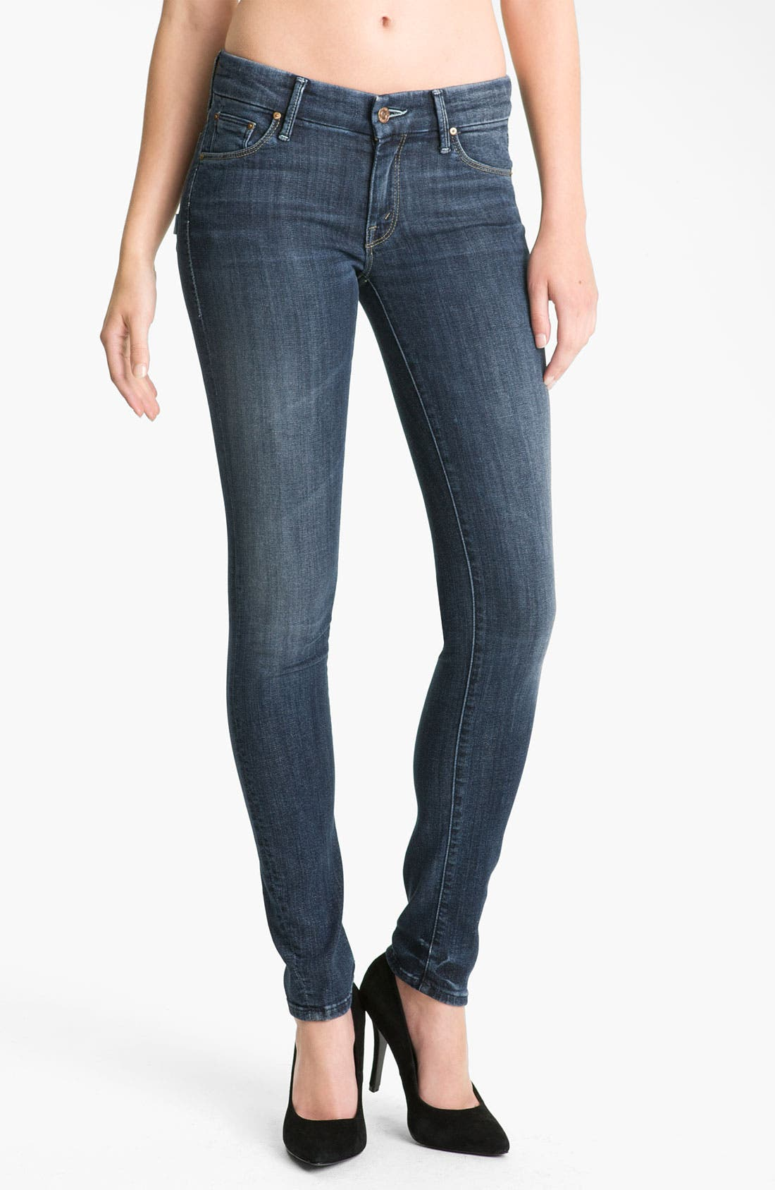 'The Looker' Skinny Jeans,                         Main,                         color, Here Kitty Kitty