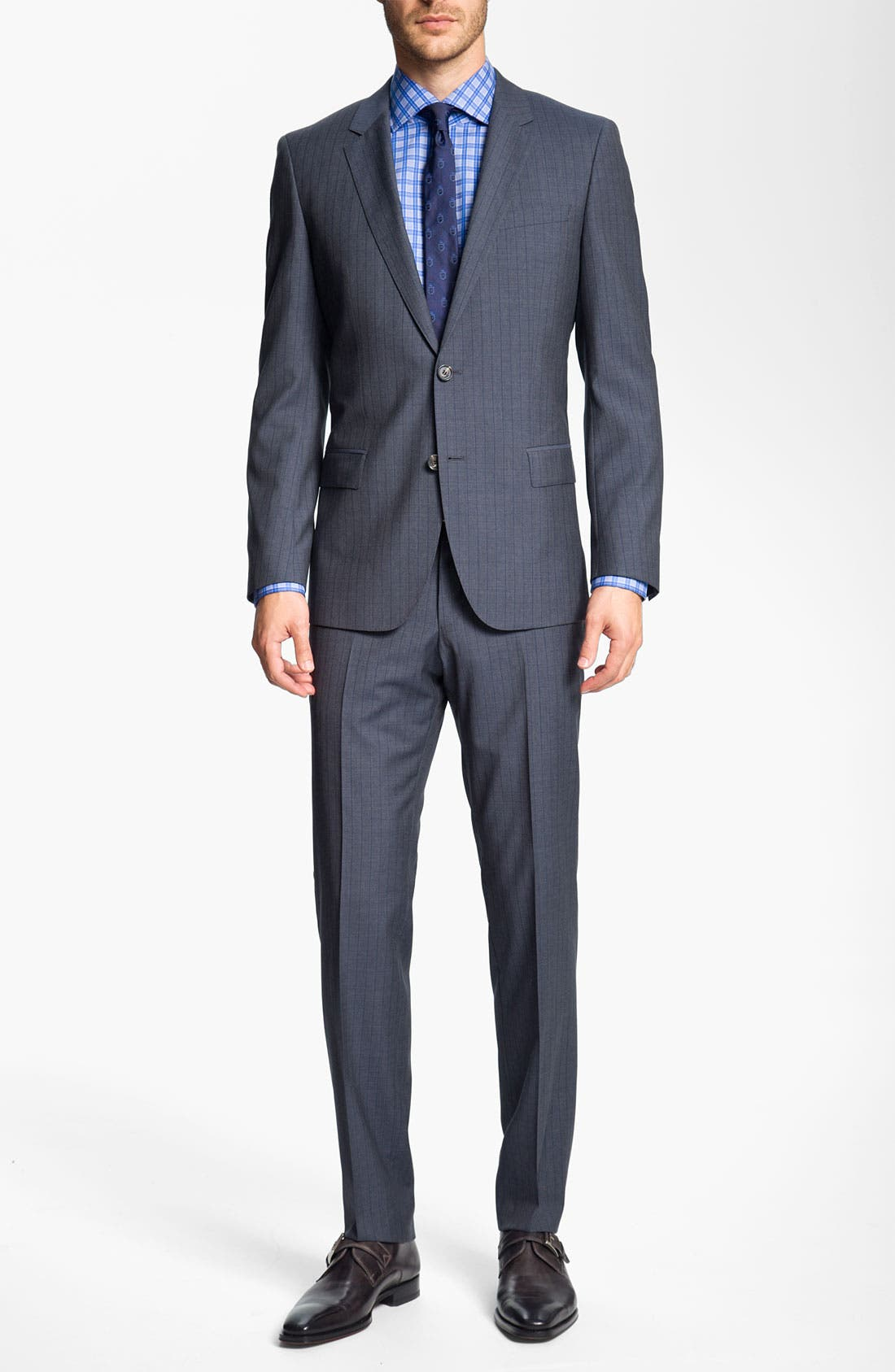 Alternate Image 2  - BOSS Black 'Huge/Genius' Stripe Suit
