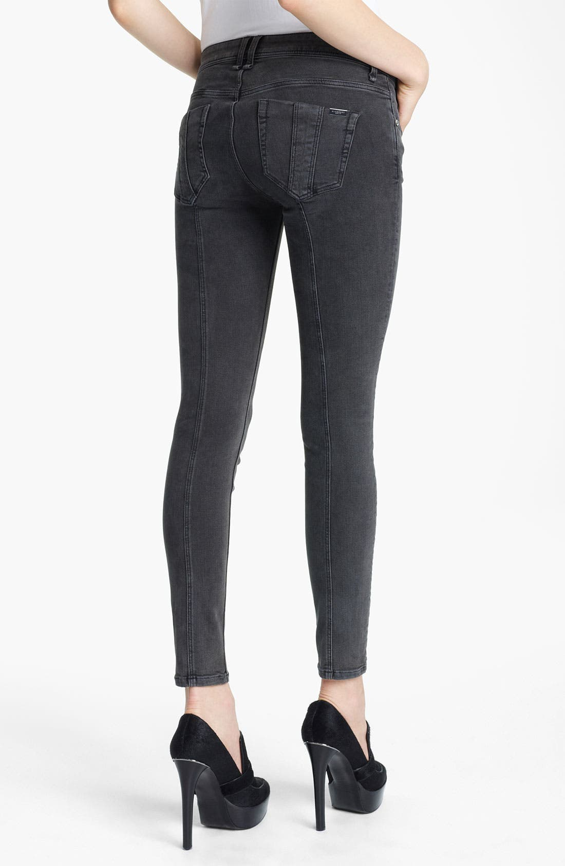 Alternate Image 2  - Burberry Brit Skinny Jeans