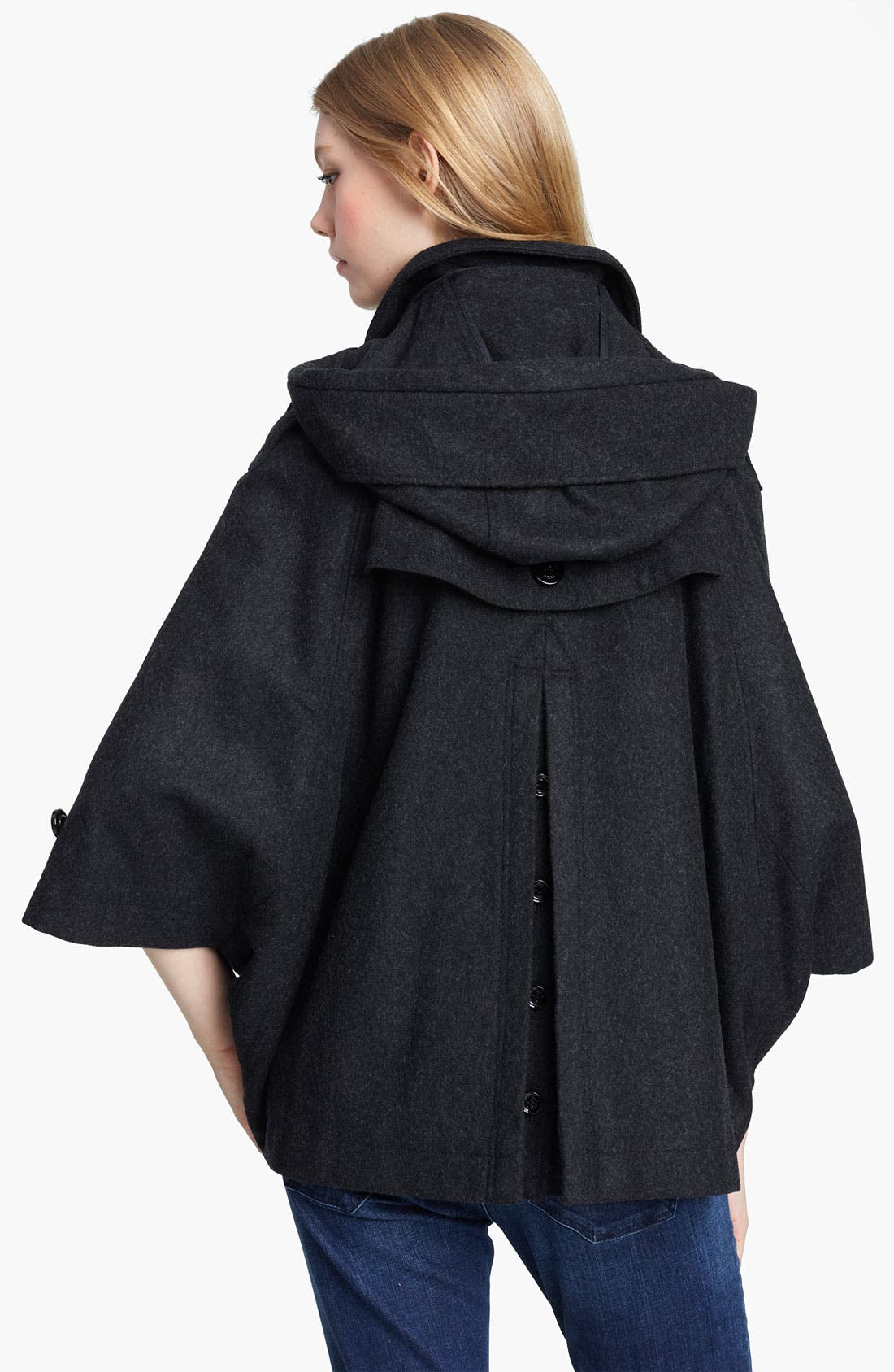Alternate Image 2  - Burberry Brit Hooded Cape (Online Exclusive)