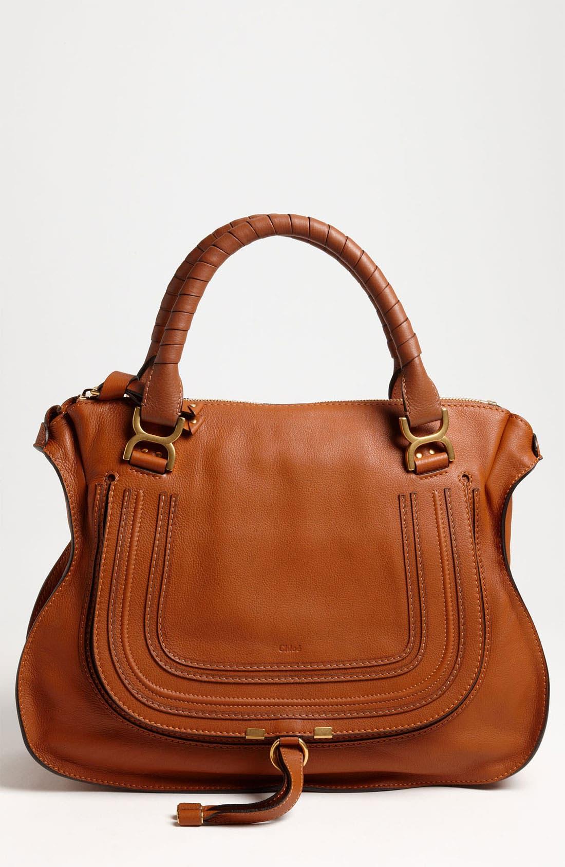 Main Image - Chloé Large Marcie Leather Satchel
