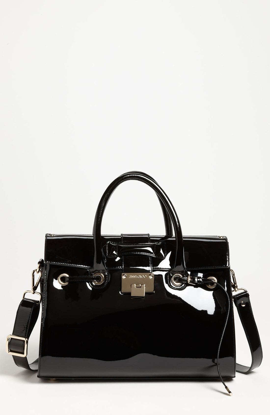 Alternate Image 1 Selected - Jimmy Choo 'Rosalie' Patent Leather Satchel