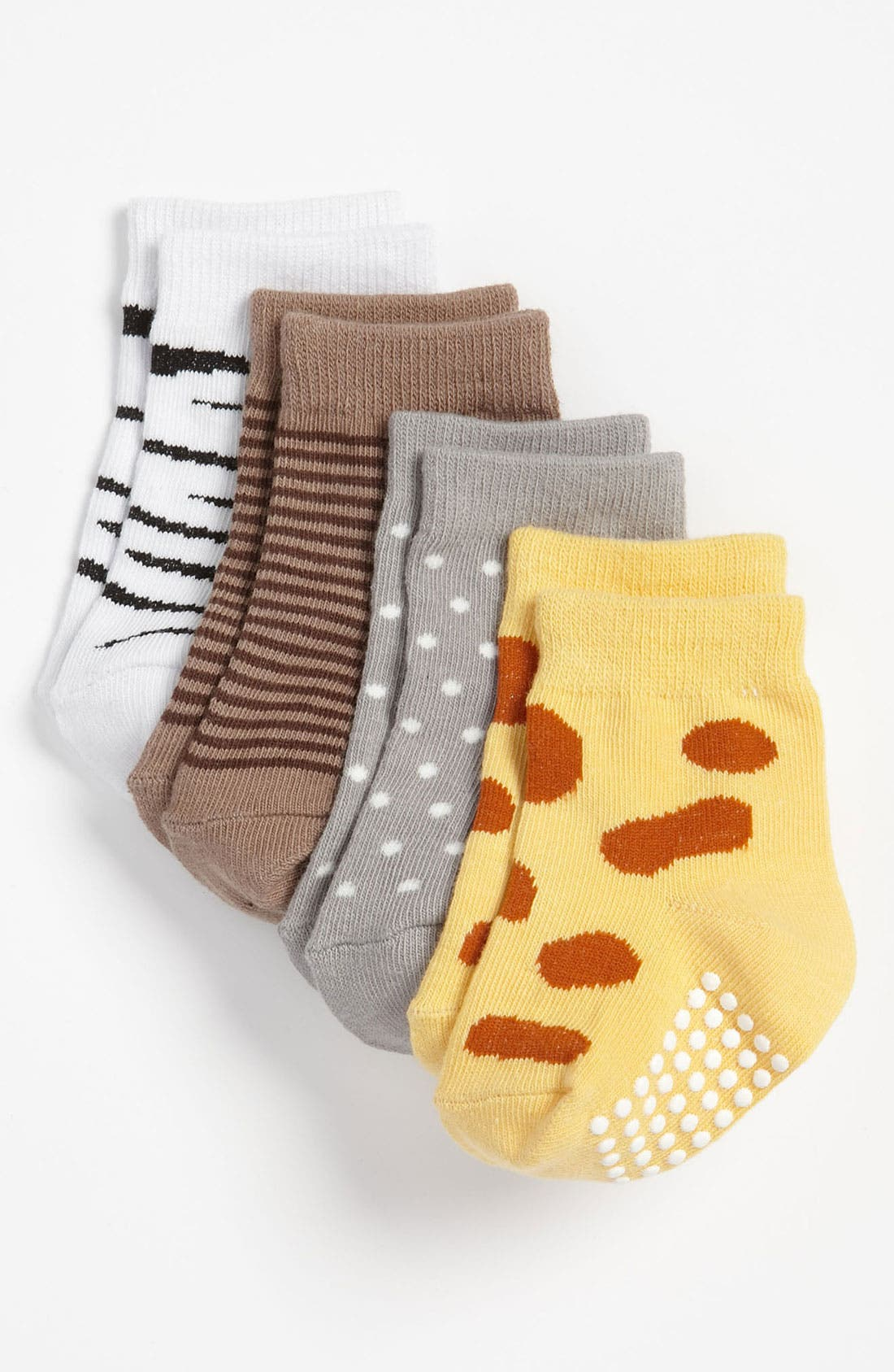 Alternate Image 1 Selected - Baby Aspen 'Sock Safari' Socks (4-Pack) (Infant)