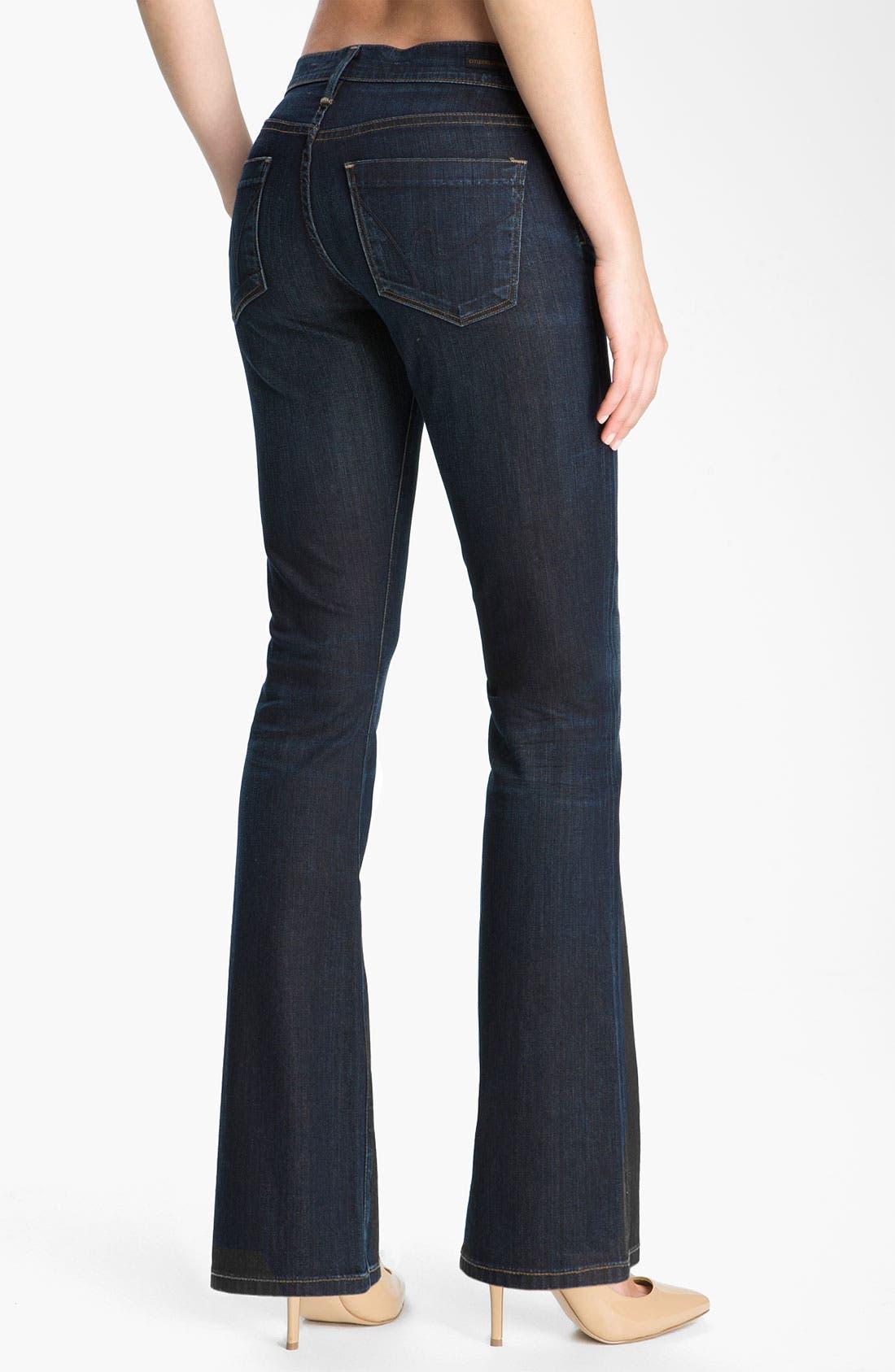 Alternate Image 2  - Citizens of Humanity 'Dita' Bootcut Jeans (Felt Dark Blue) (Petite)